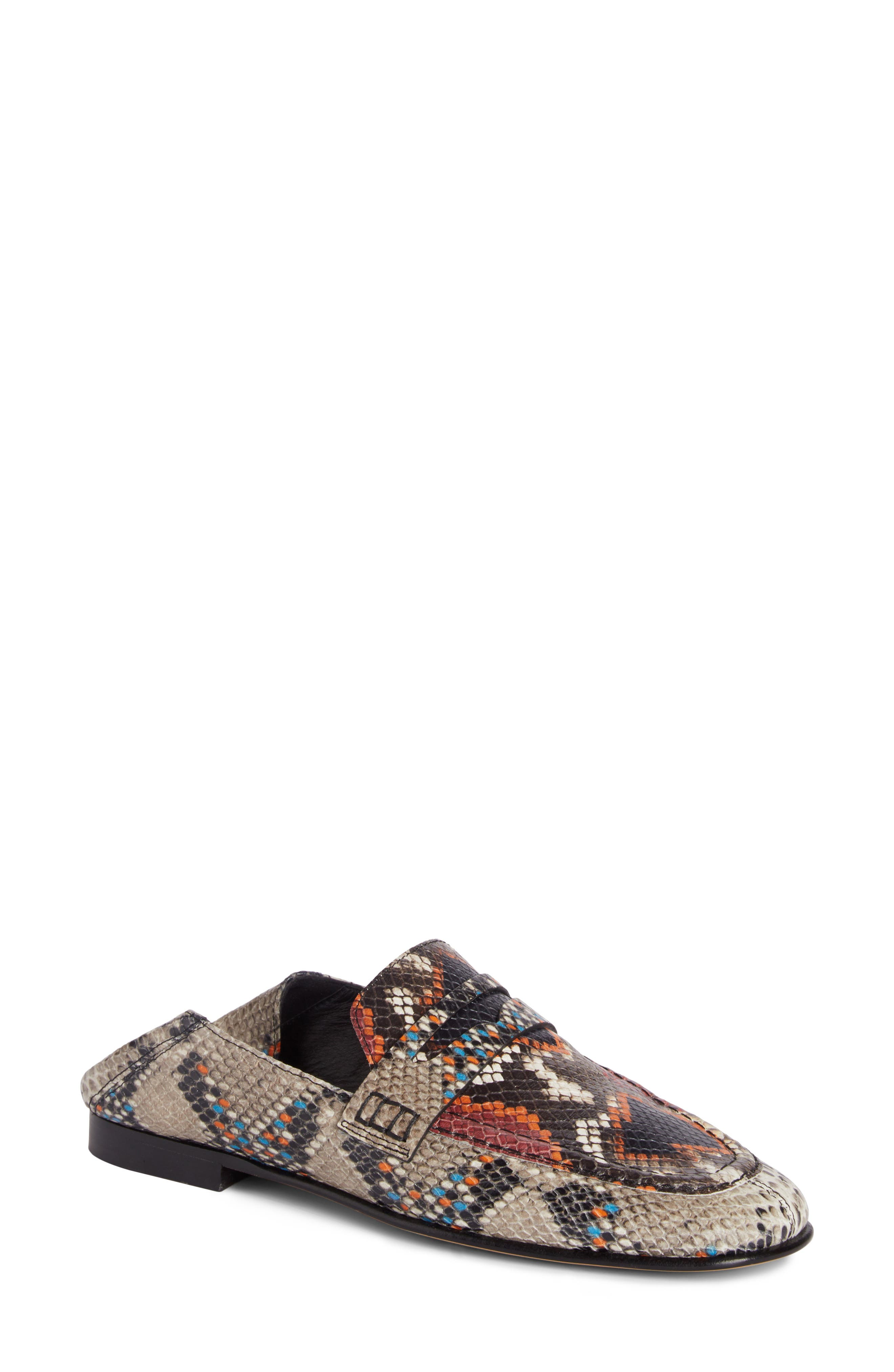 Fezzy Snakeskin Embossed Convertible Loafer,                         Main,                         color,