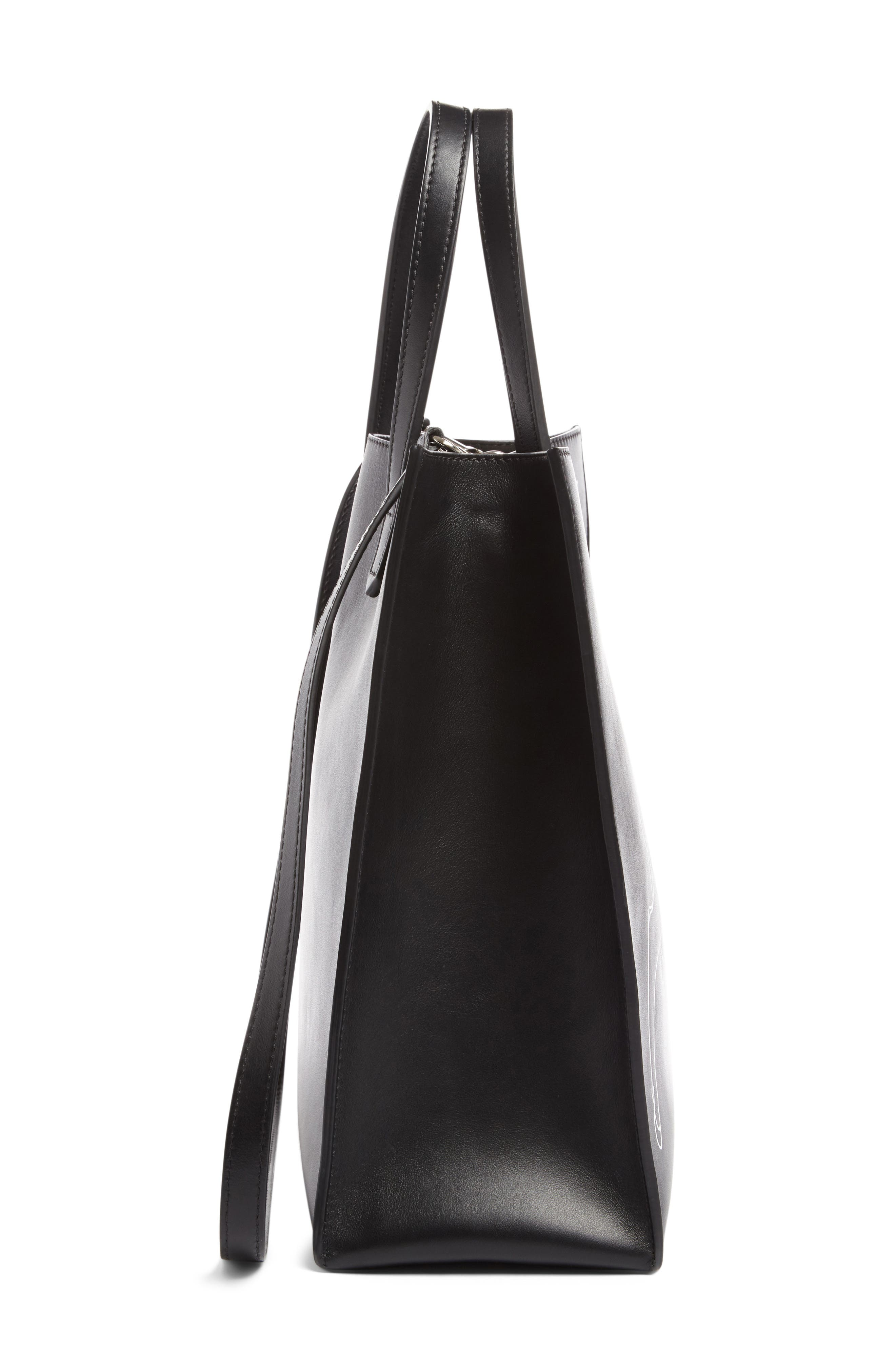Medium Stargate Bambi<sup>™</sup> Leather Tote,                             Alternate thumbnail 5, color,                             001