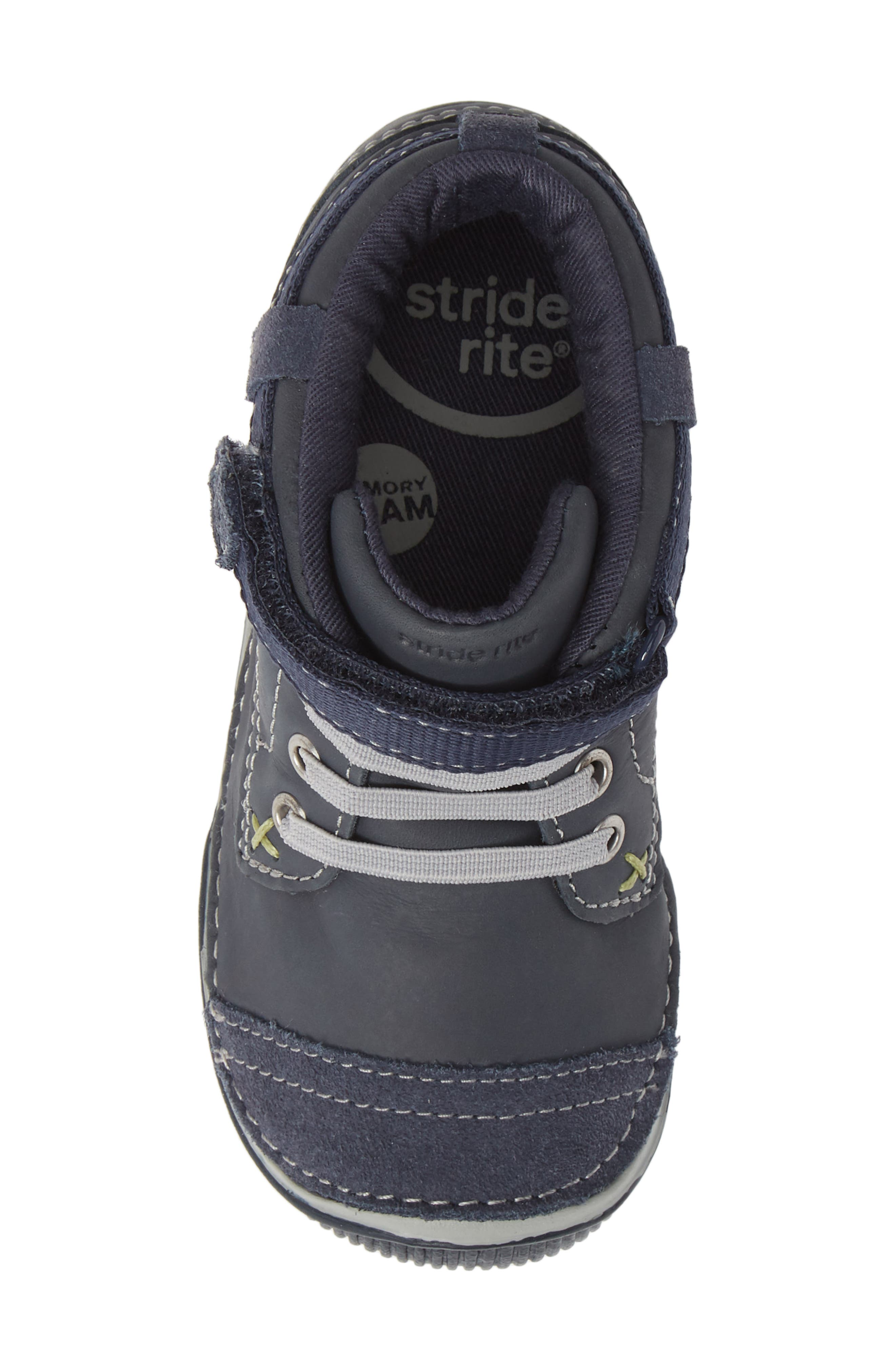 'Garrett' High Top Bootie Sneaker,                             Alternate thumbnail 5, color,                             NAVY