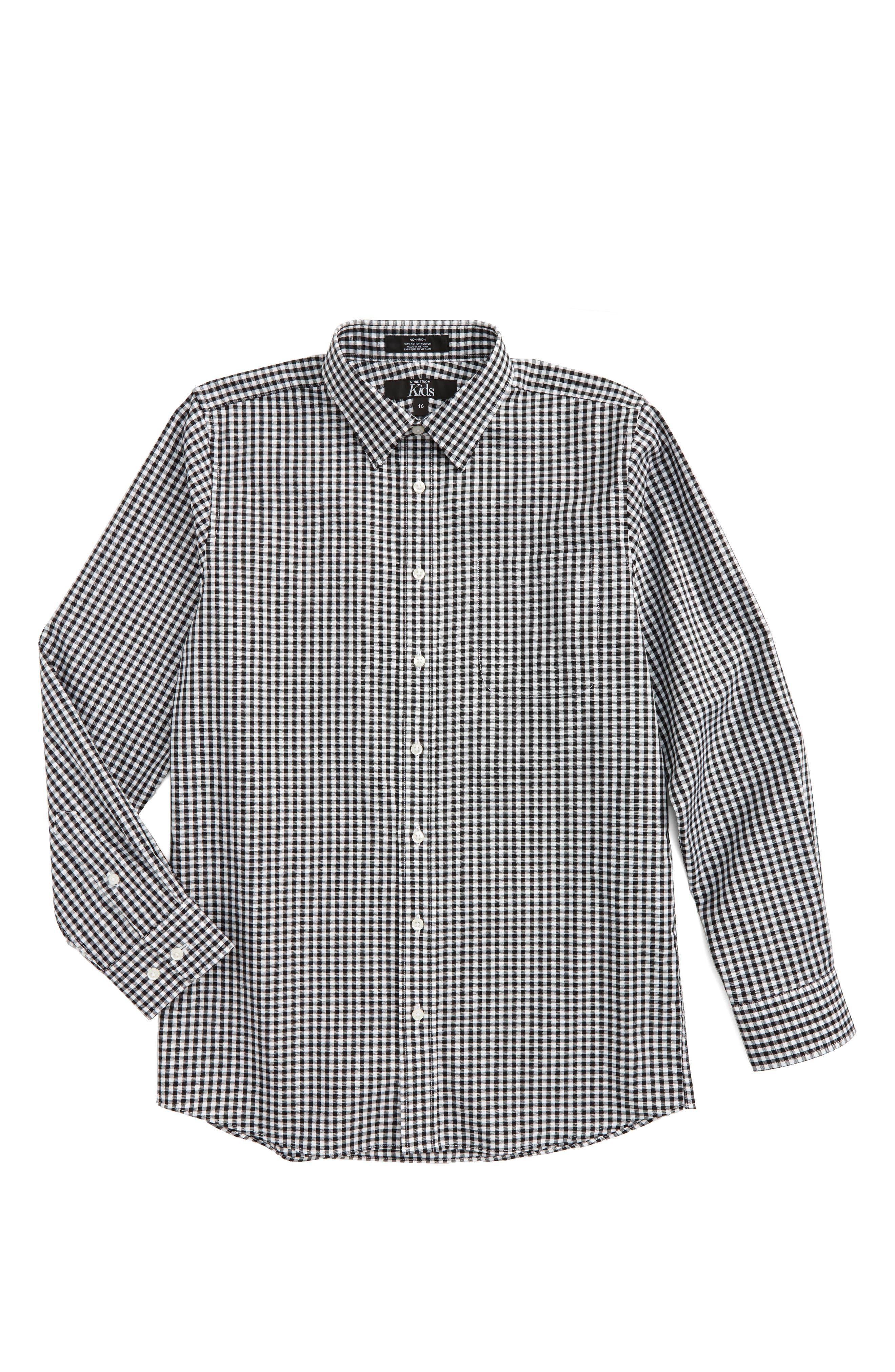 Non-Iron Check Dress Shirt,                         Main,                         color,