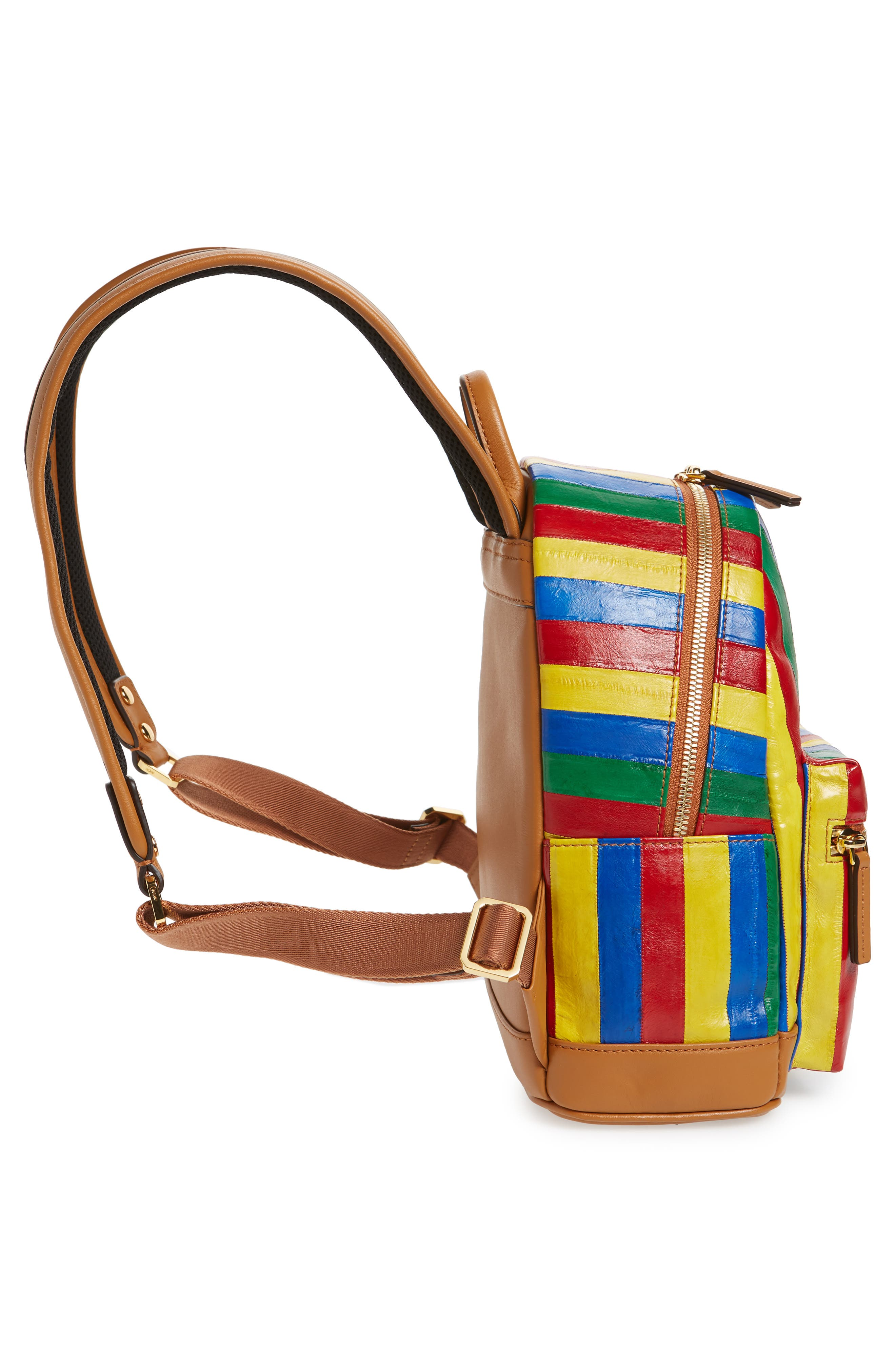 Mini Leather Backpack,                             Alternate thumbnail 5, color,                             MULTI
