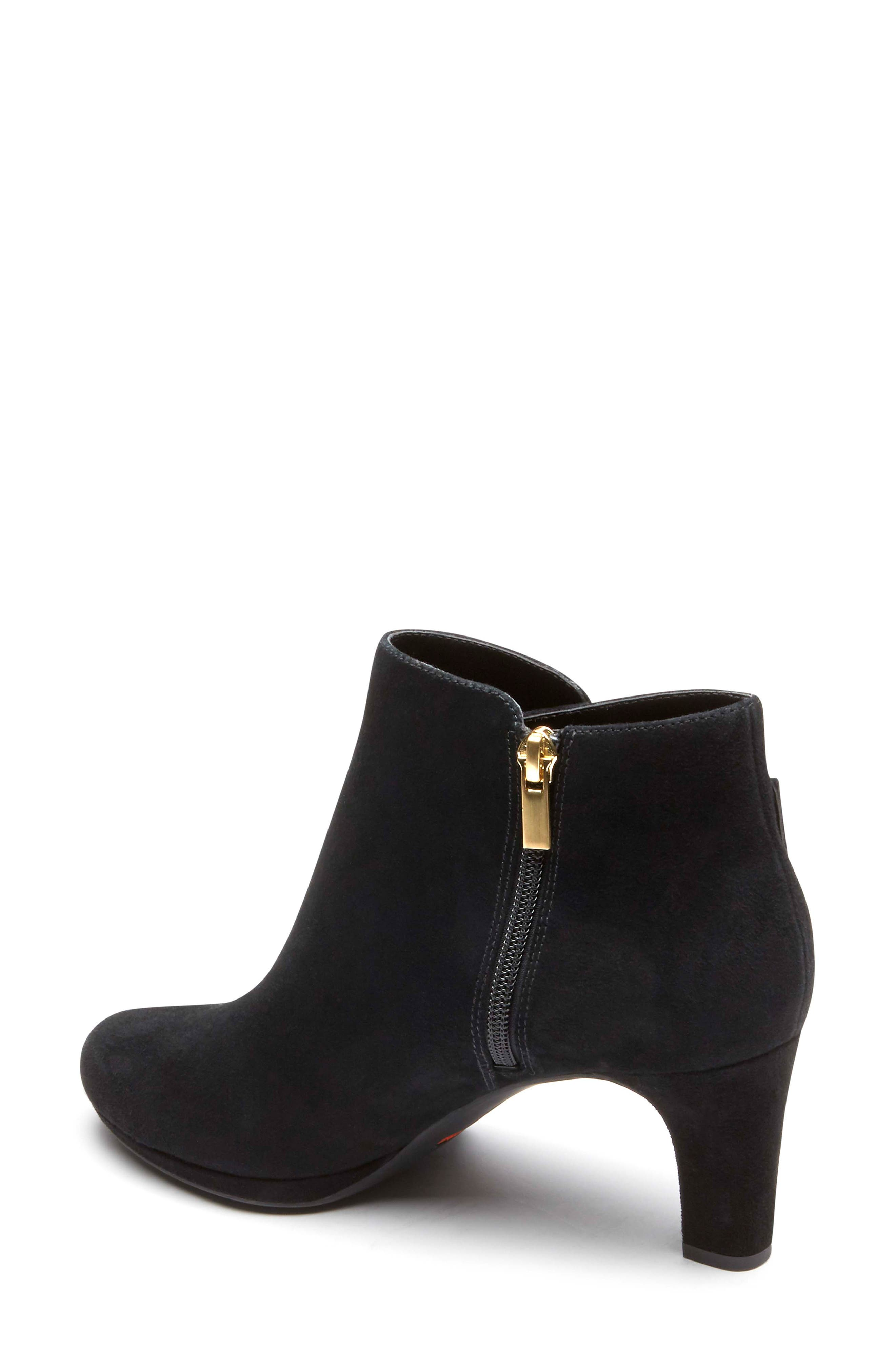 Total Motion Leah Bootie,                             Alternate thumbnail 2, color,                             BLACK SUEDE