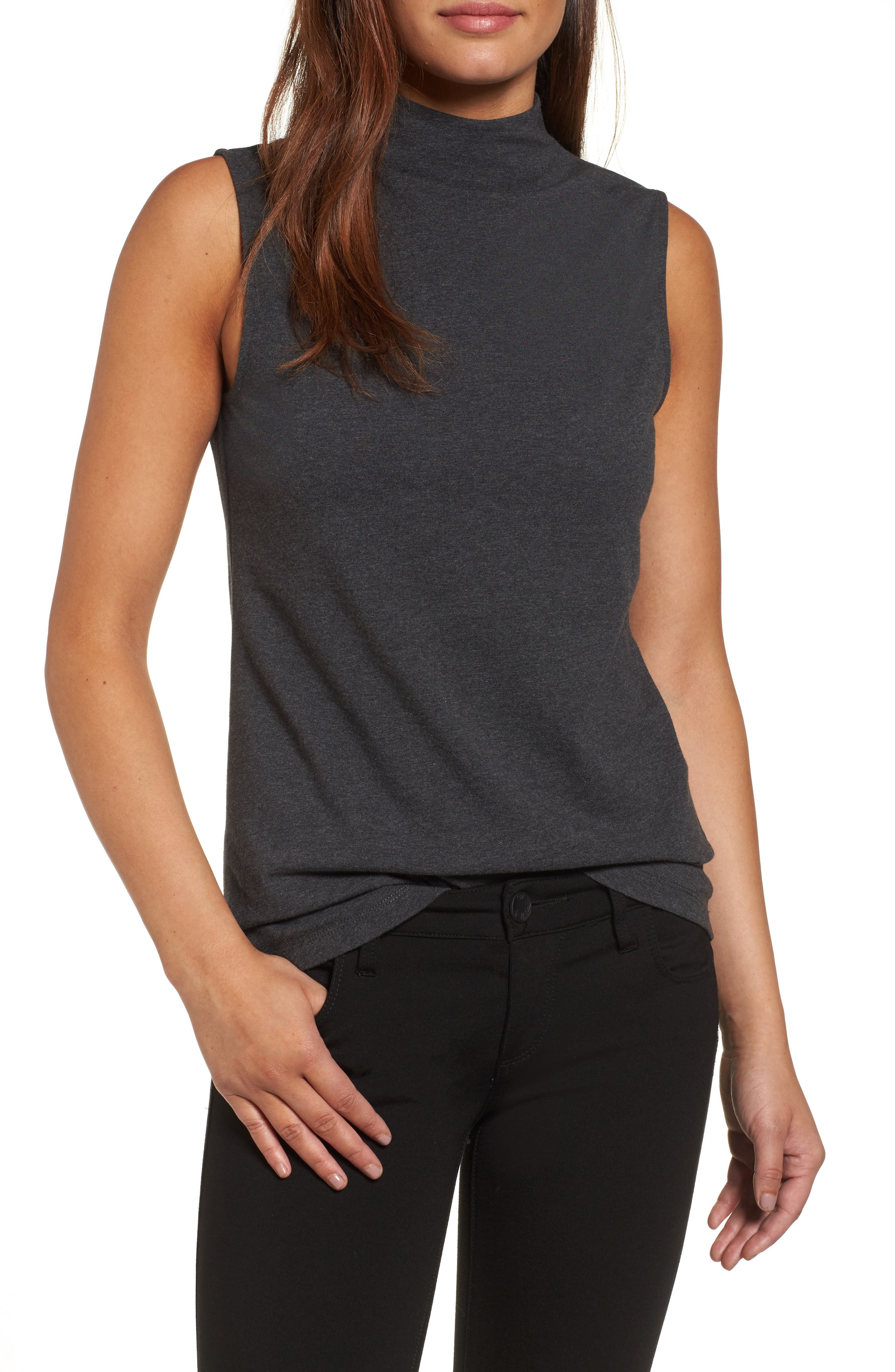 The Perfect Mock Neck Top,                             Main thumbnail 2, color,