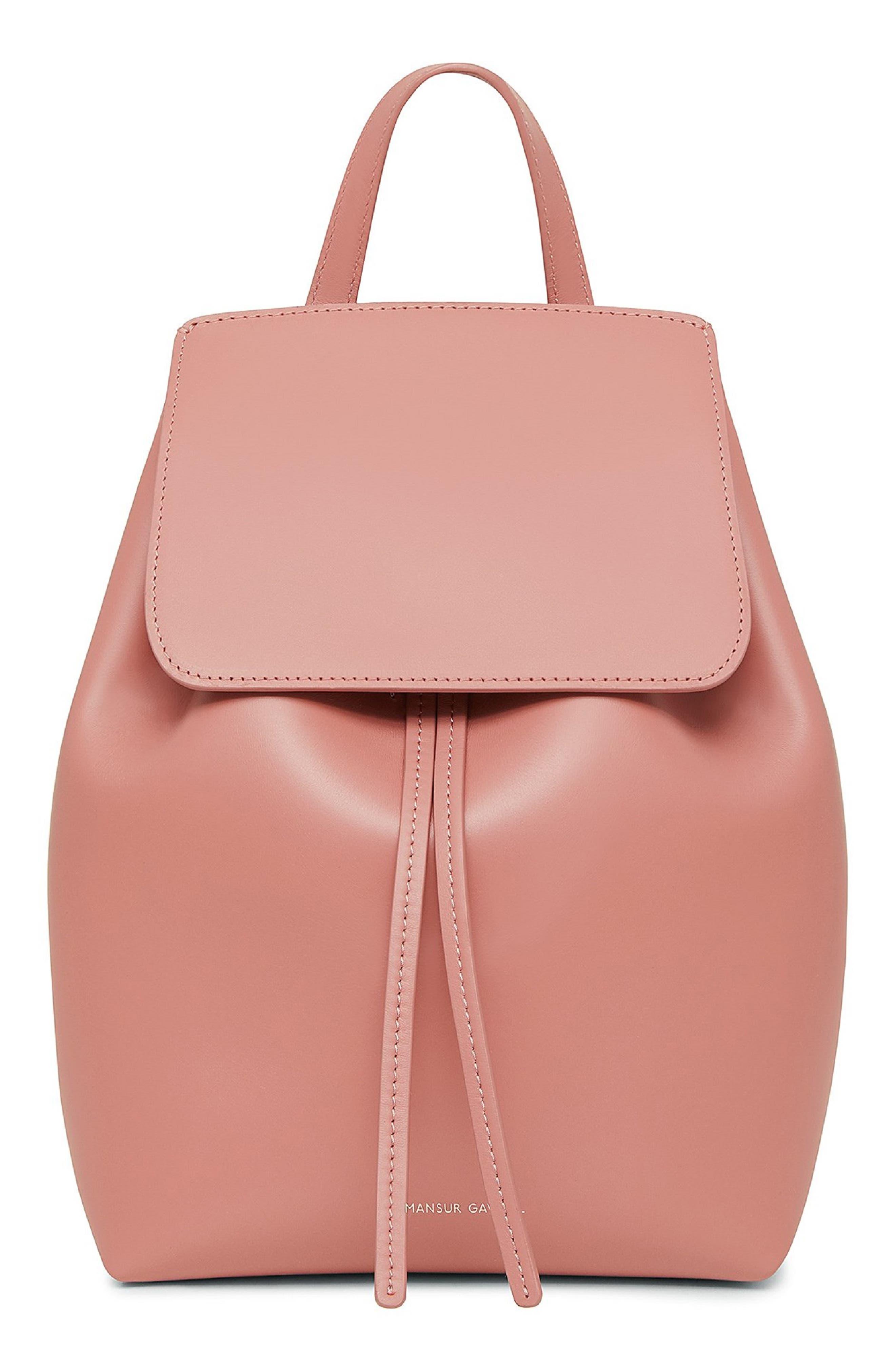 Mini Leather Backpack,                             Main thumbnail 1, color,                             BLUSH