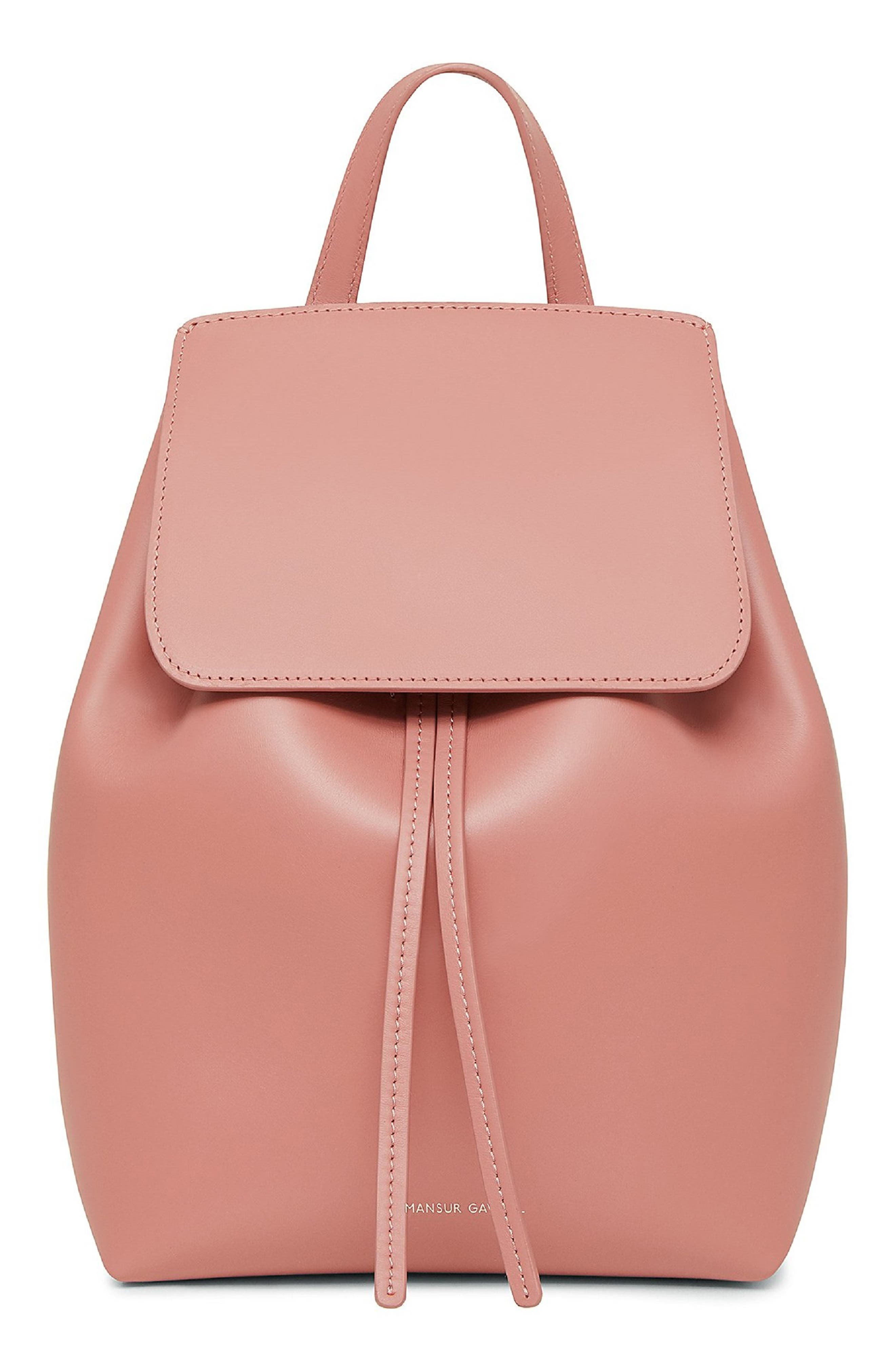 Mini Leather Backpack,                         Main,                         color, BLUSH