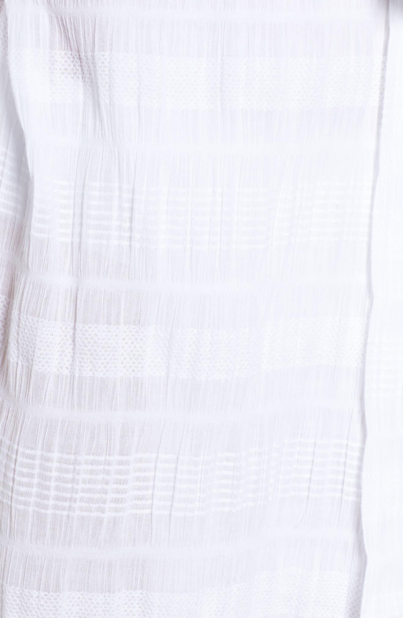 Nina Gauze Short Robe,                             Alternate thumbnail 5, color,