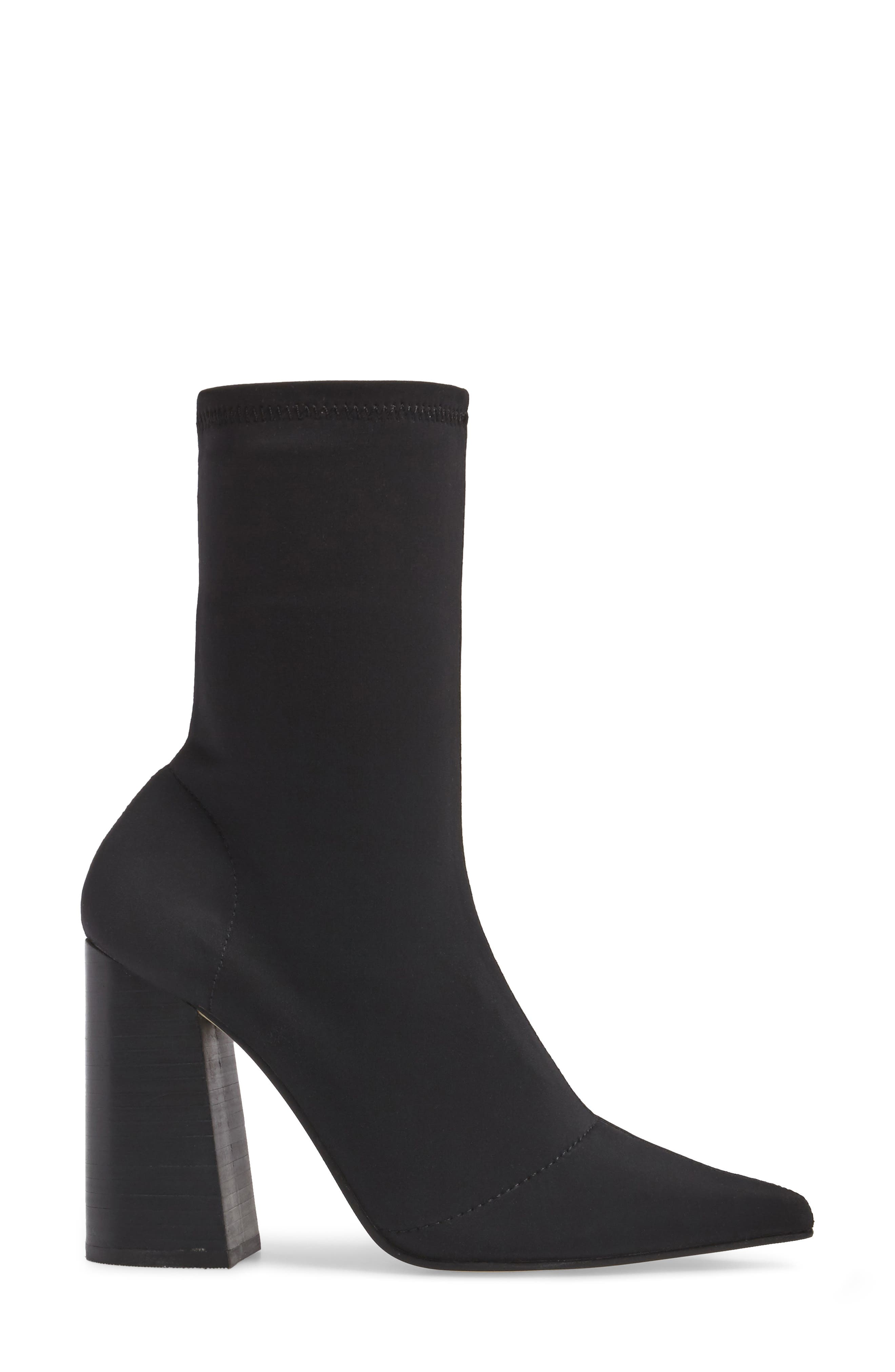 Lombard Pointy Toe Sock Bootie,                             Alternate thumbnail 3, color,                             001