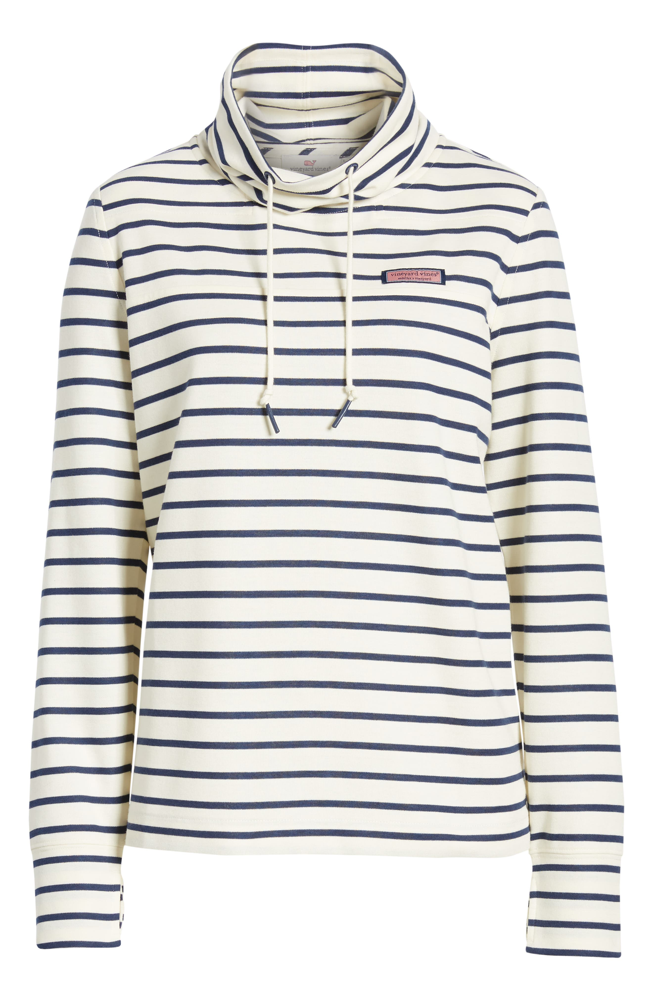 Relaxed Fit Stripe Pullover,                             Alternate thumbnail 6, color,                             907