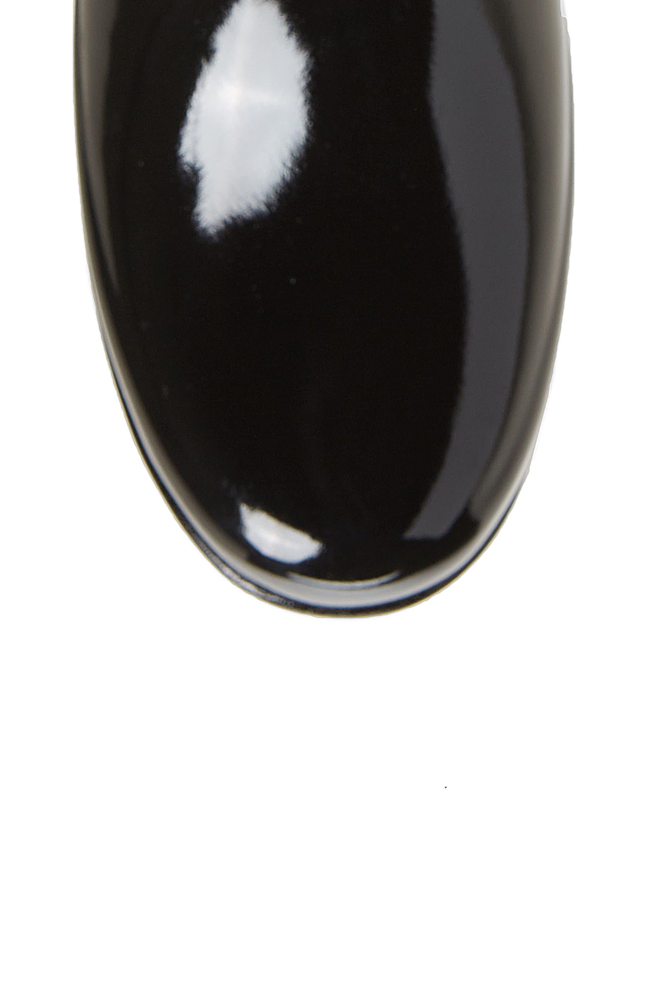 Original Refined High Gloss Rain Boot,                             Alternate thumbnail 5, color,