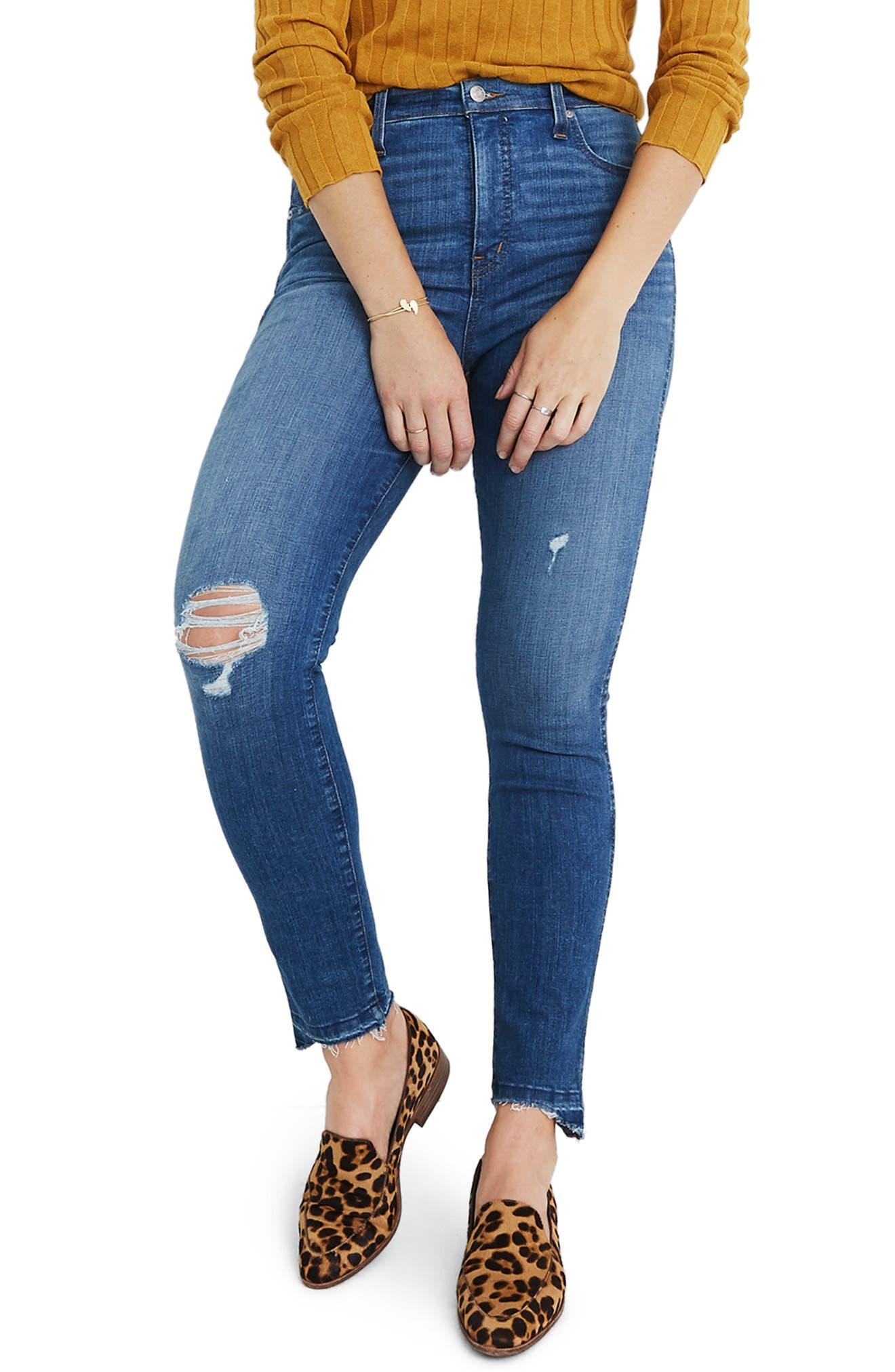 10 Inch Drop Step Hem High Waist Skinny Jeans by Madewell