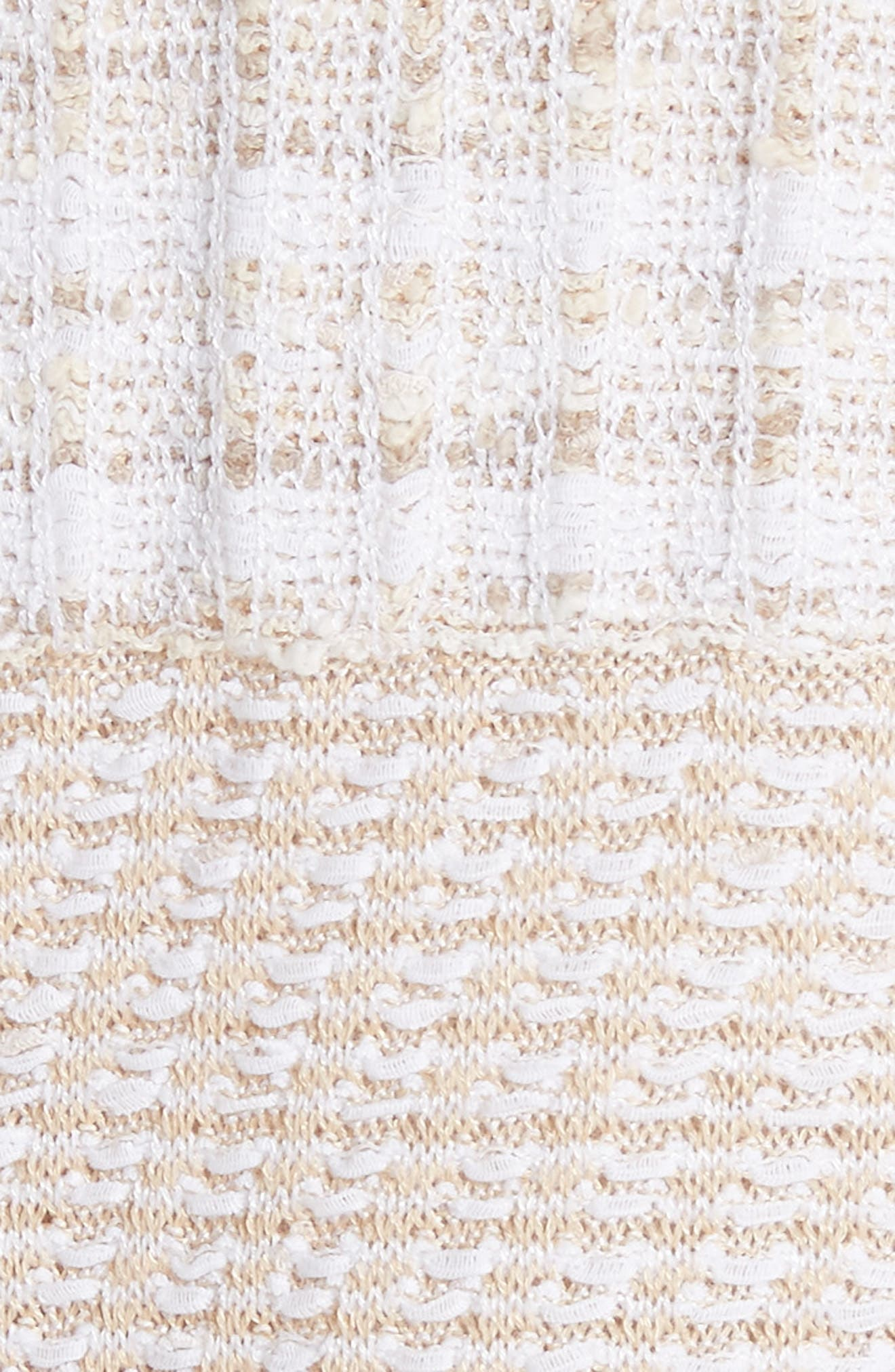 ST. JOHN COLLECTION,                             Mixed Floats Stripe Knit Jacket,                             Alternate thumbnail 6, color,                             700