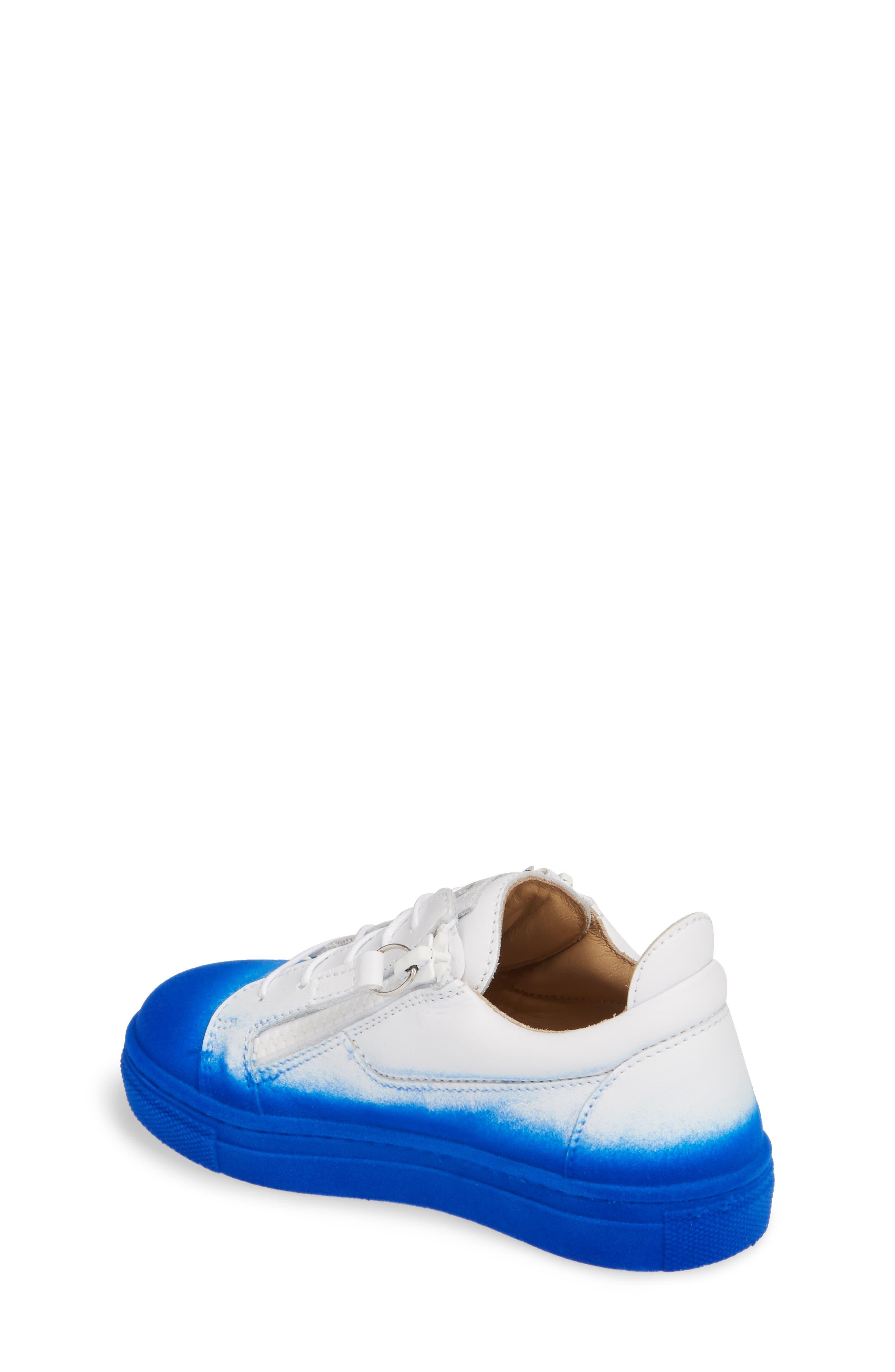 Smuggy Ombré Flocked Sneaker,                             Alternate thumbnail 2, color,                             BLUE/ WHITE