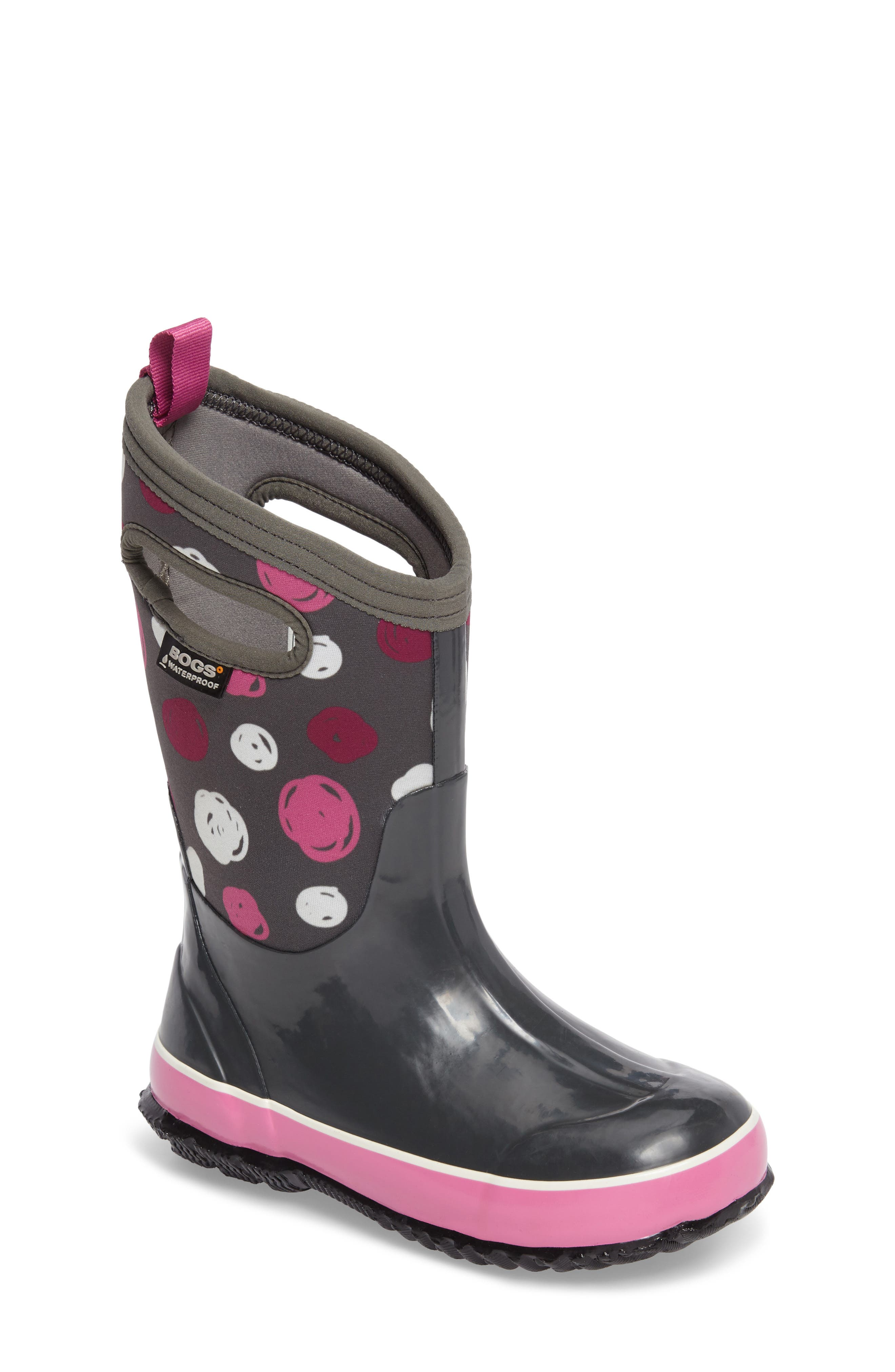 Classic Sketched Dots Insulated Waterproof Boot,                             Main thumbnail 3, color,