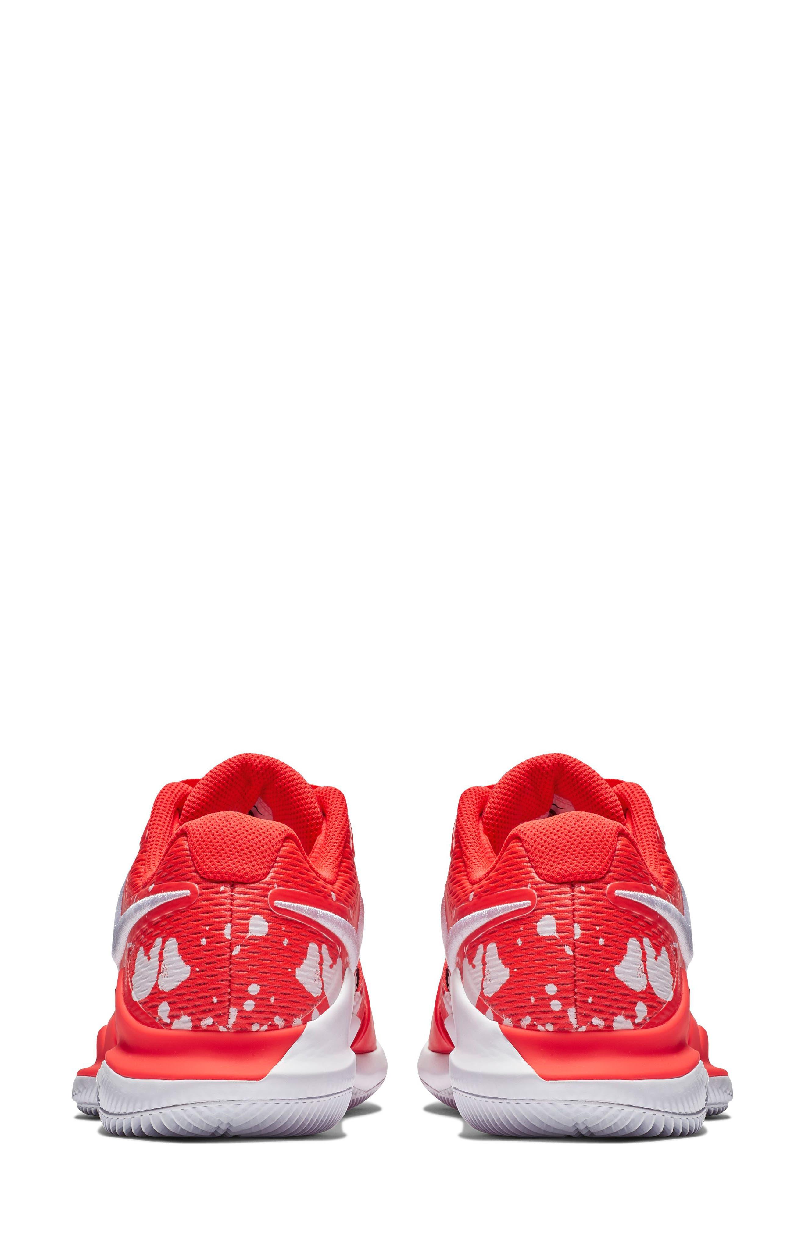 Air Zoom Vapor X Tennis Shoe,                             Alternate thumbnail 2, color,                             BRIGHT CRIMSON/ WHITE- BLUE