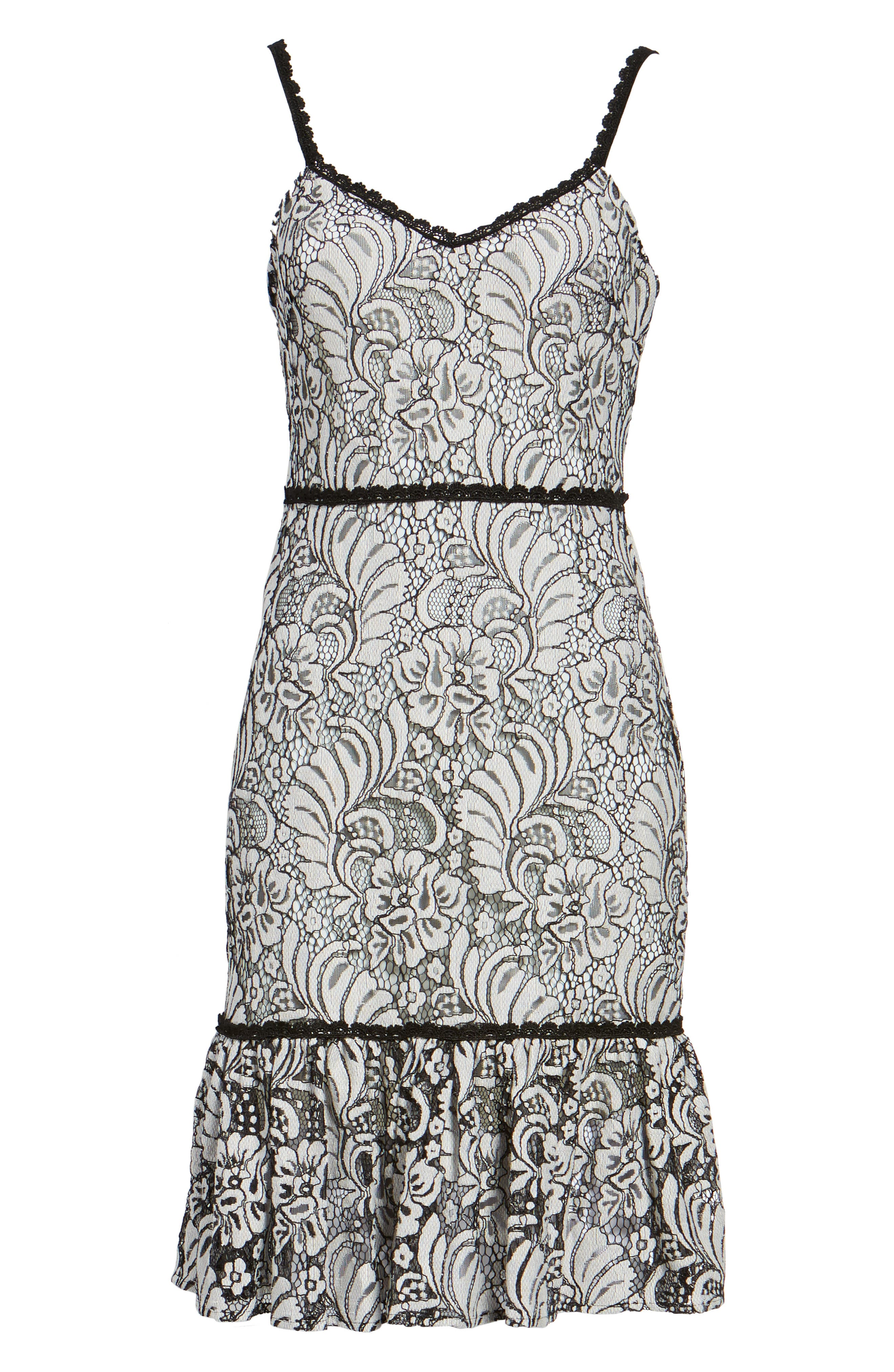 Sue Lace Dress,                             Alternate thumbnail 6, color,                             900