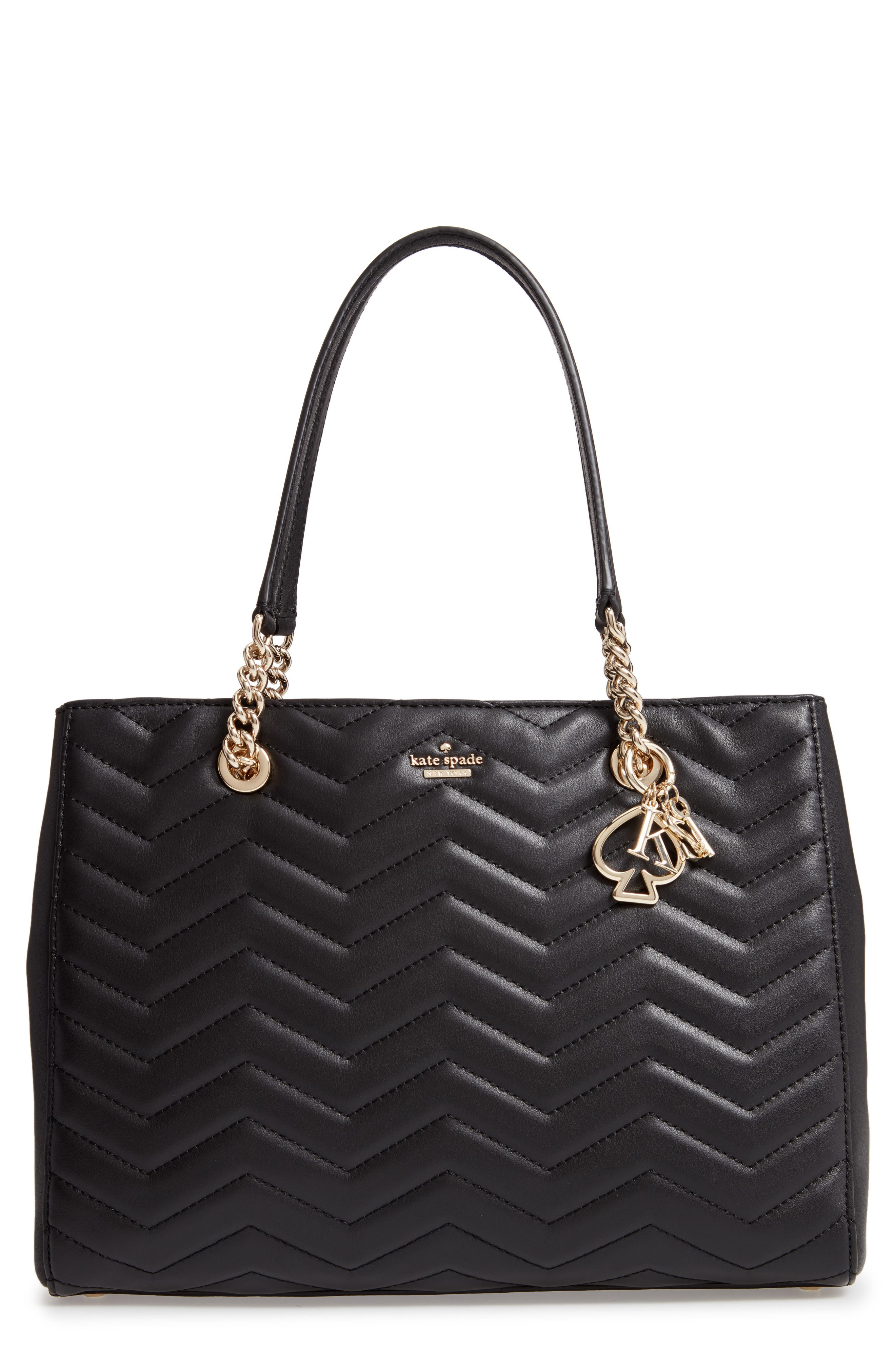 reese park courtnee leather tote,                             Main thumbnail 1, color,                             BLACK