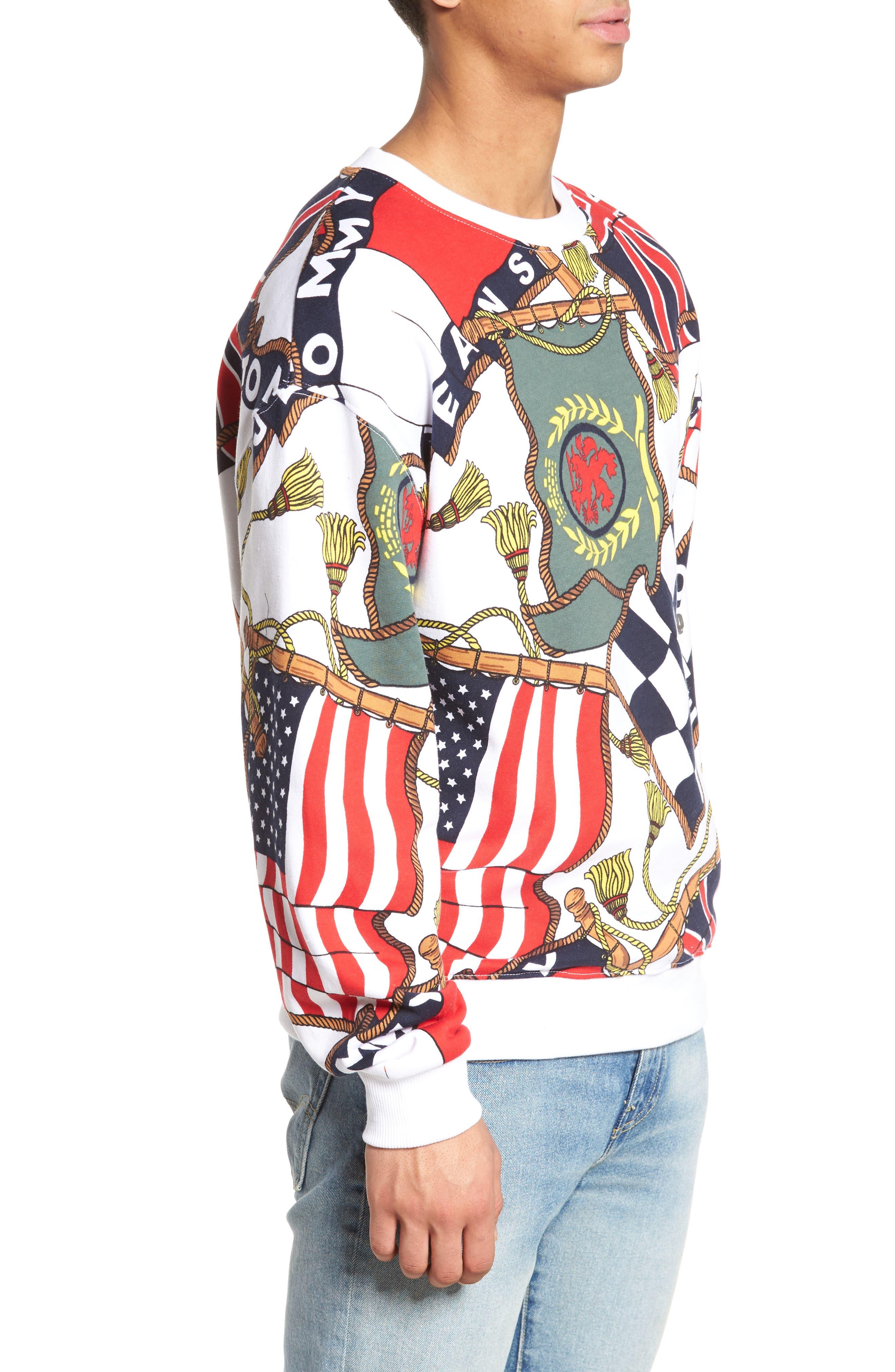 TOMMY HILFIGER,                             90s Sweatshirt,                             Alternate thumbnail 3, color,                             101