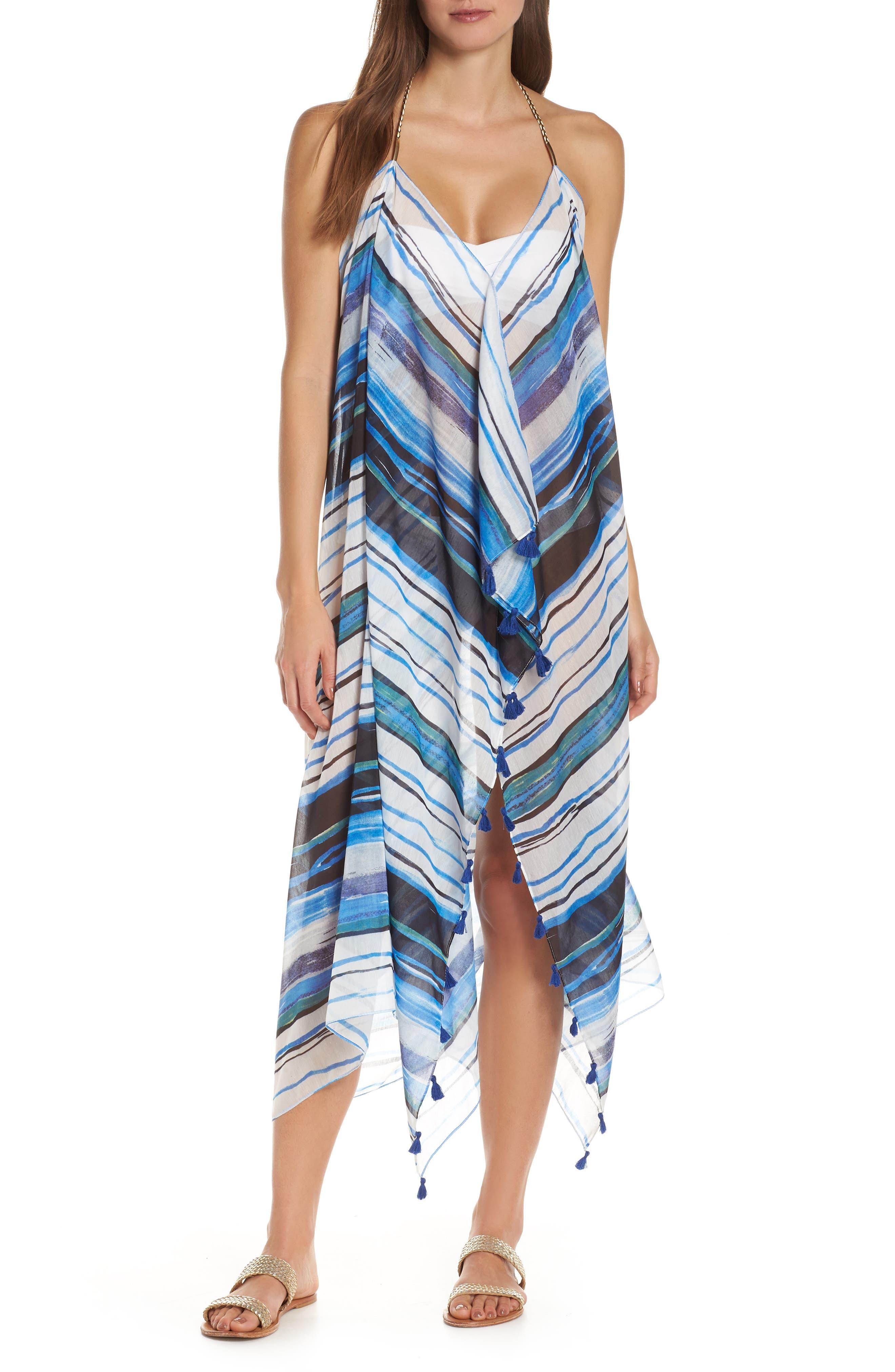 Beach to Street Cover-Up Dress, Main, color, AQUA RITUAL