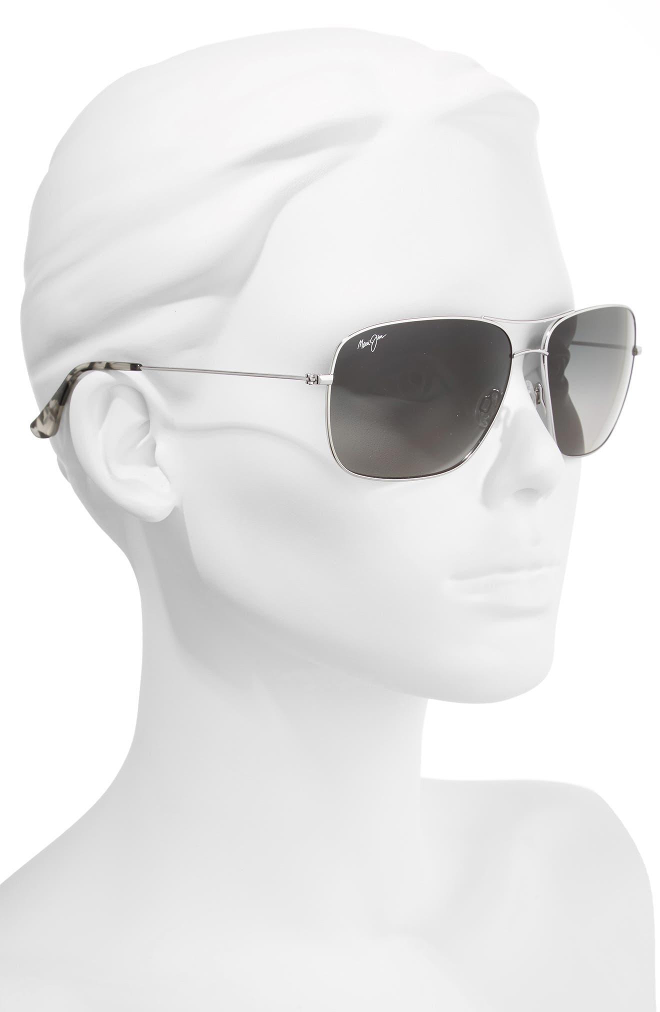 Cook Pines 63mm Polarized Titanium Aviator Sunglasses,                             Alternate thumbnail 6, color,