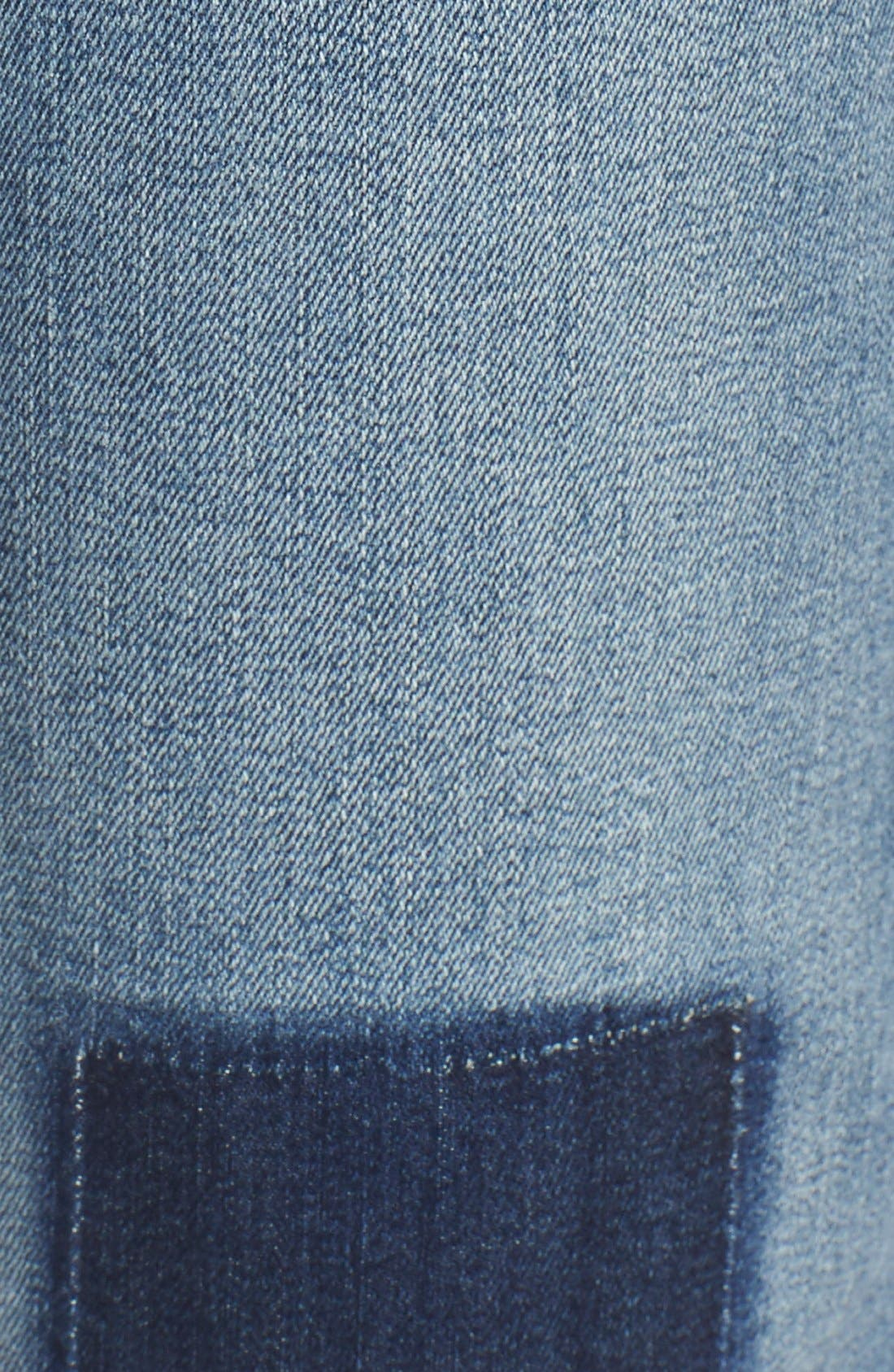 'Sylvia' Patch Detail Stretch Relaxed Boyfriend Jeans,                             Alternate thumbnail 5, color,