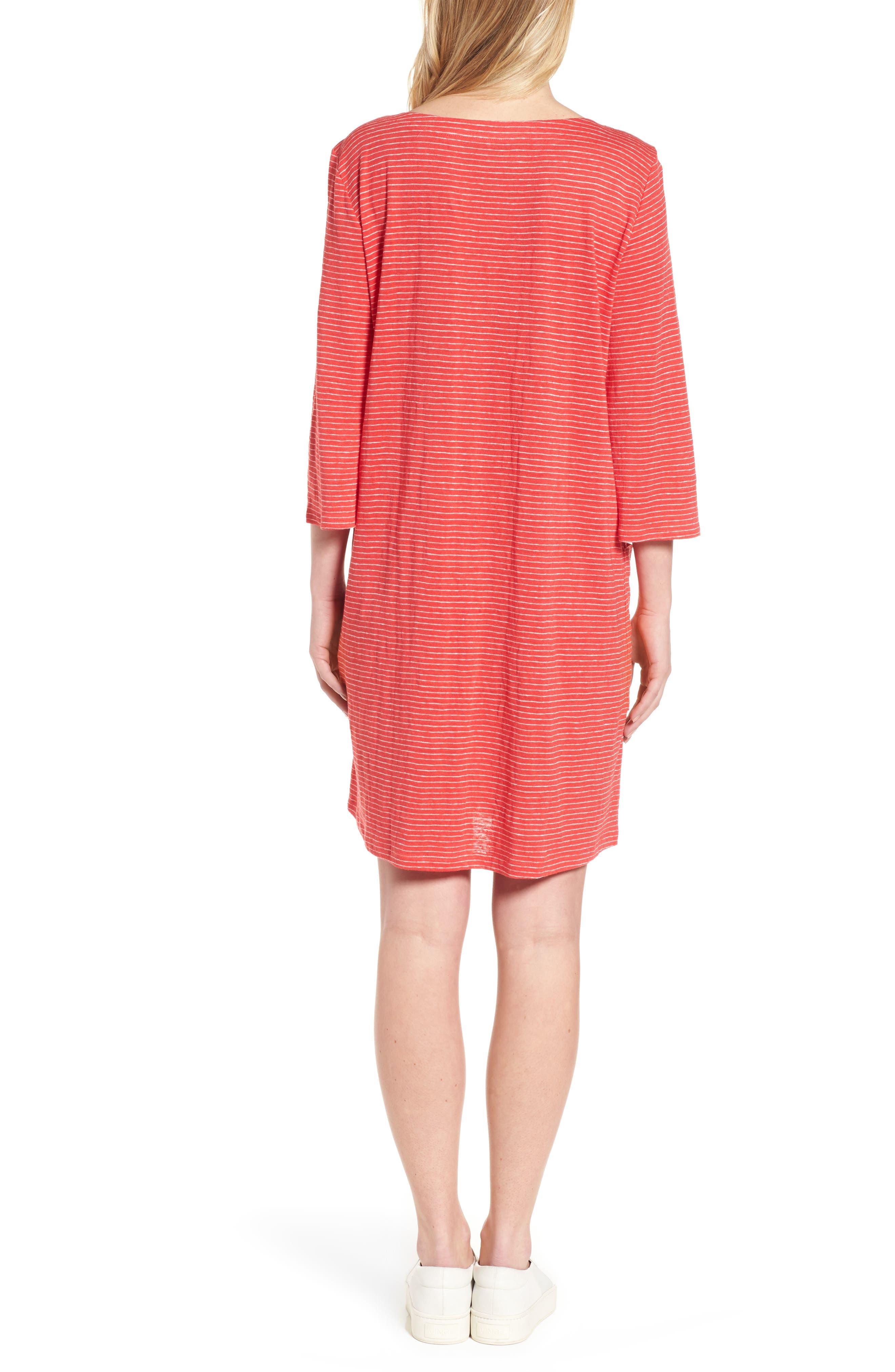 Organic Linen Shift Dress,                             Alternate thumbnail 5, color,