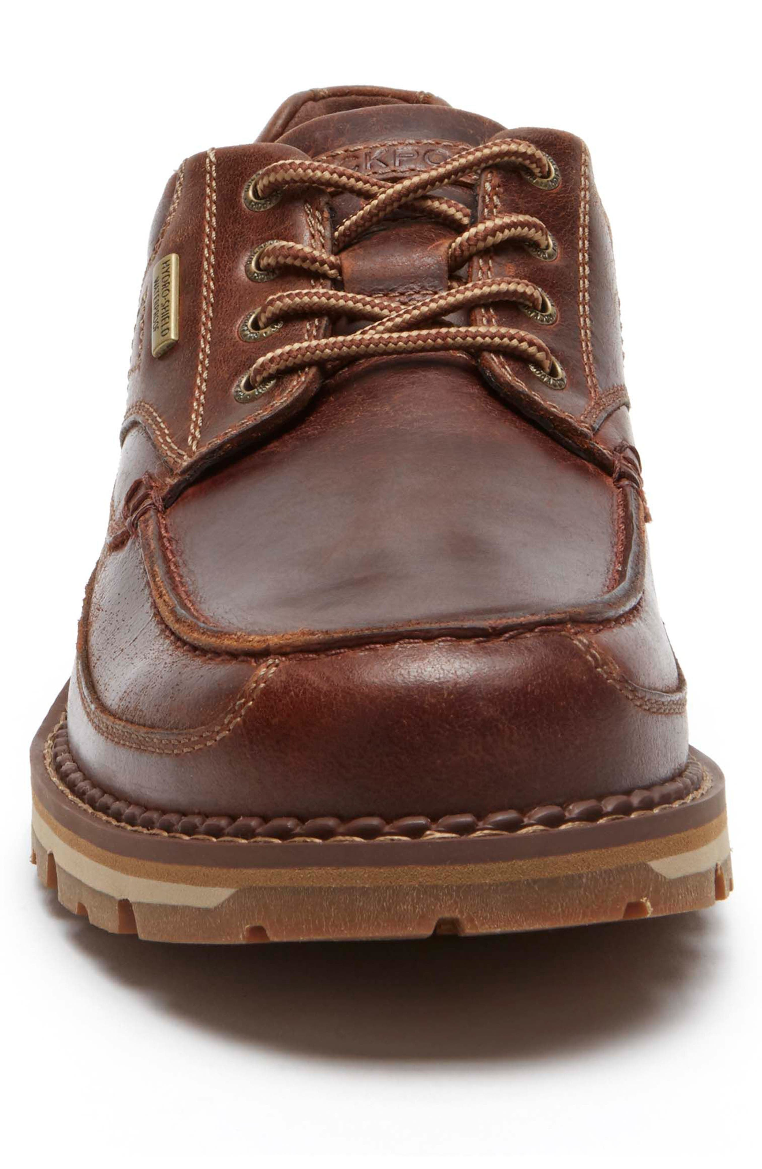 Centry Moc Toe Derby,                             Alternate thumbnail 4, color,                             BROWN LEATHER