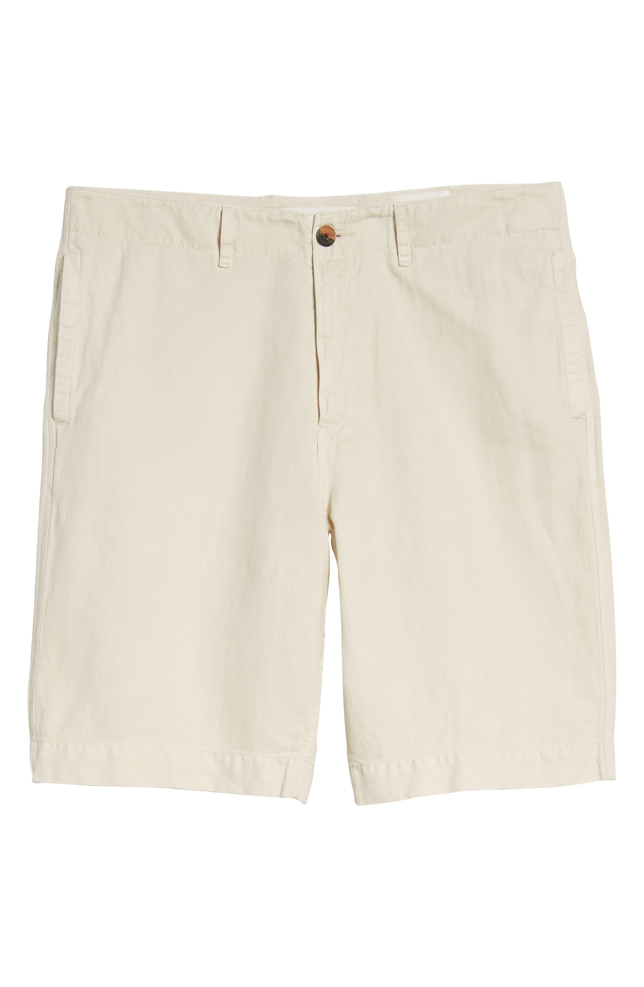 Clyde Cotton & Linen Shorts,                             Alternate thumbnail 6, color,                             EGGSHELL