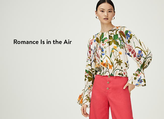 Romance is in the air with new spring tops.