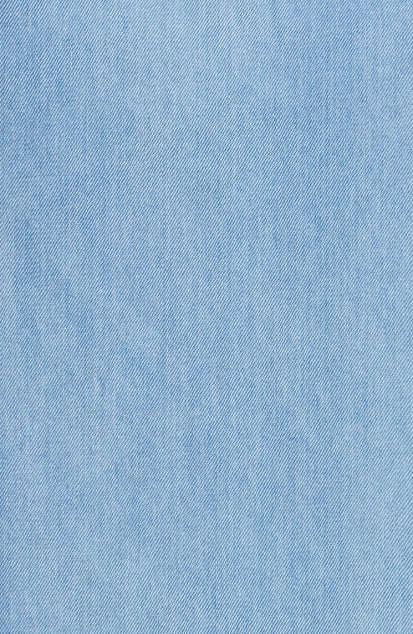Peekaboo Chambray Midi Dress,                             Alternate thumbnail 5, color,                             421