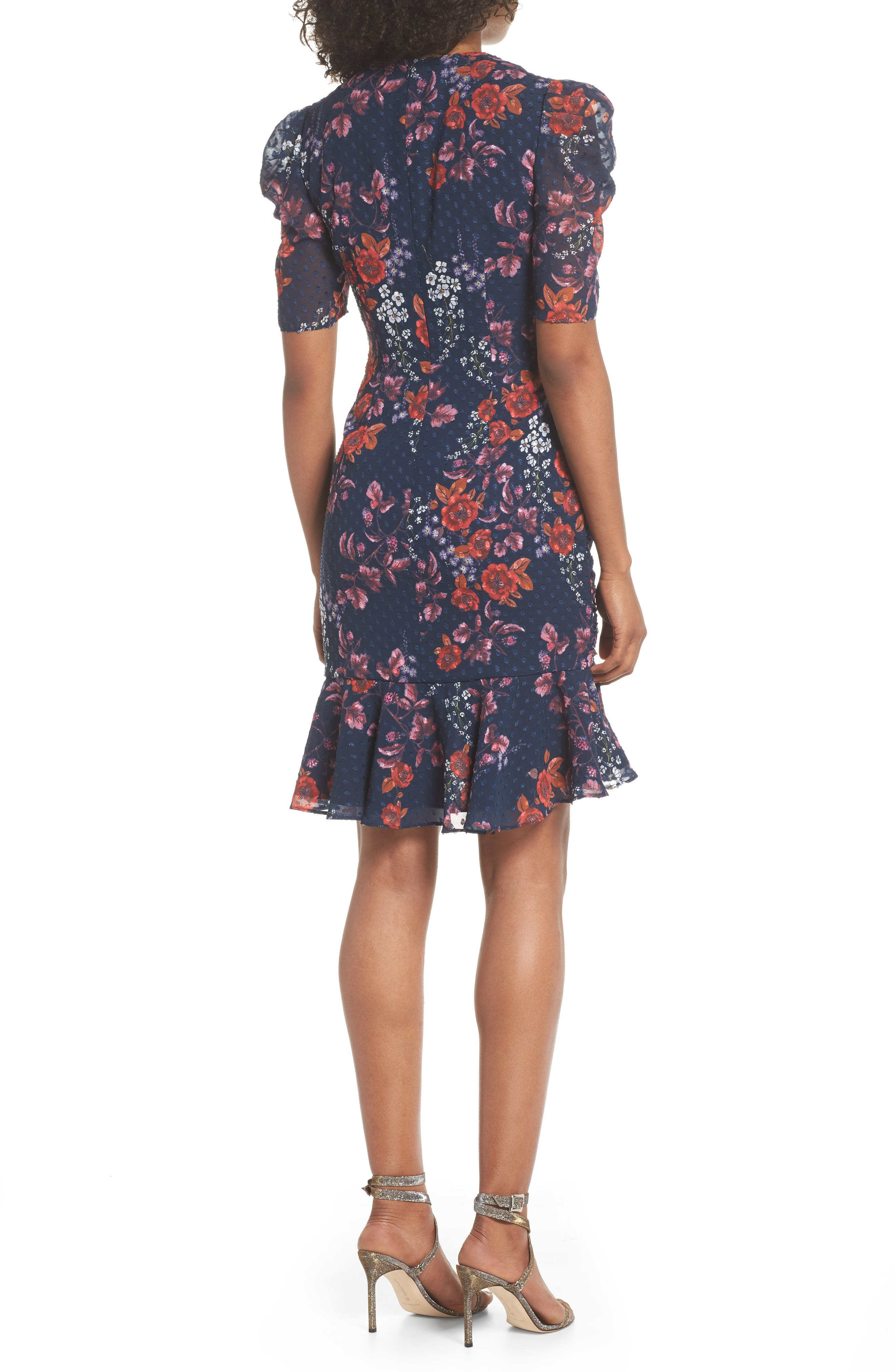 KEEPSAKE THE LABEL,                             Need You Now Floral Ruched Dress,                             Alternate thumbnail 2, color,                             411