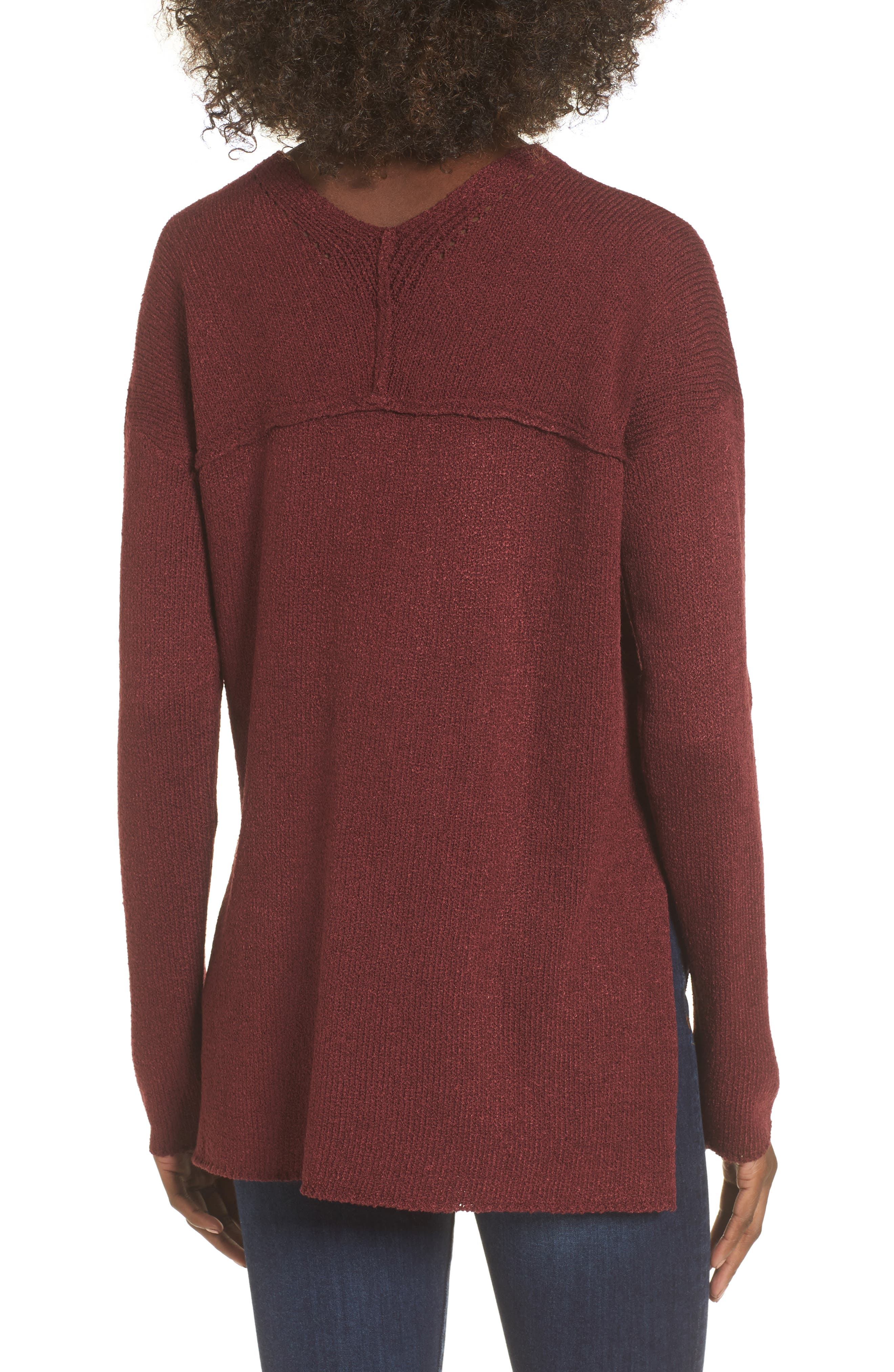 ASTR Lace-Up Sweater,                             Alternate thumbnail 2, color,                             930