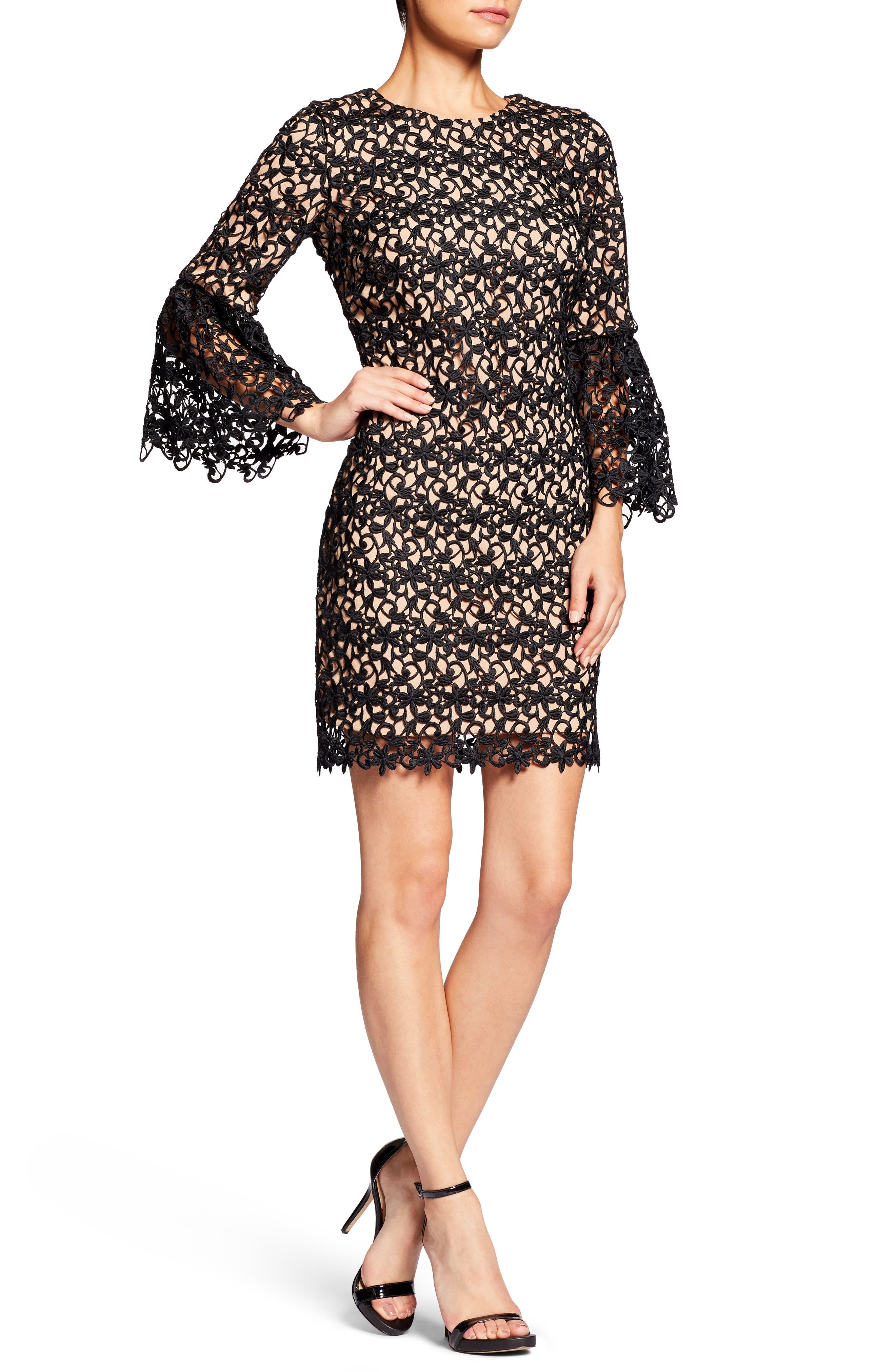 Crochet Shift Dress,                             Main thumbnail 1, color,                             004