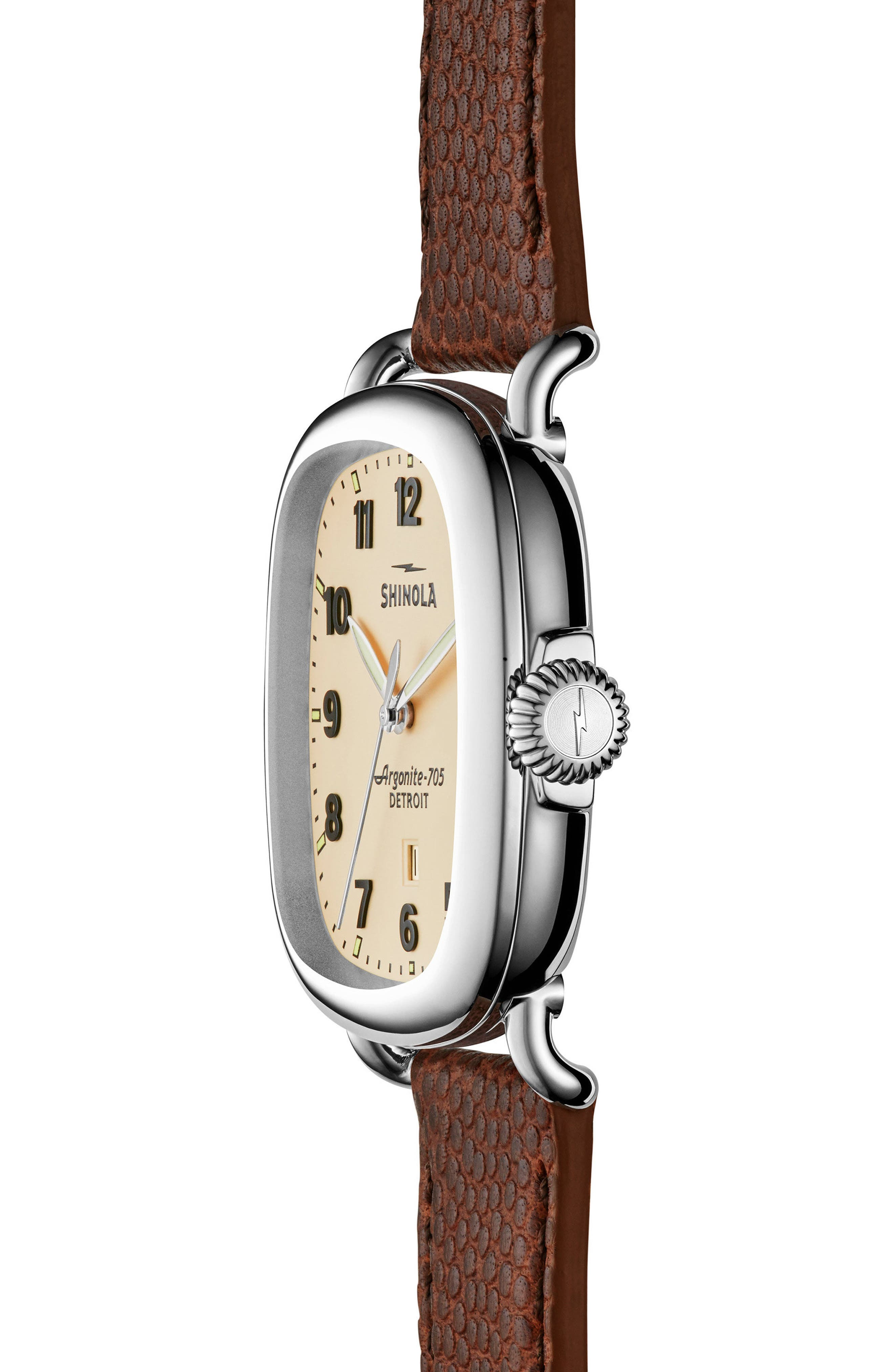 The Guardian Leather Strap Watch, 41mm,                             Alternate thumbnail 3, color,                             200