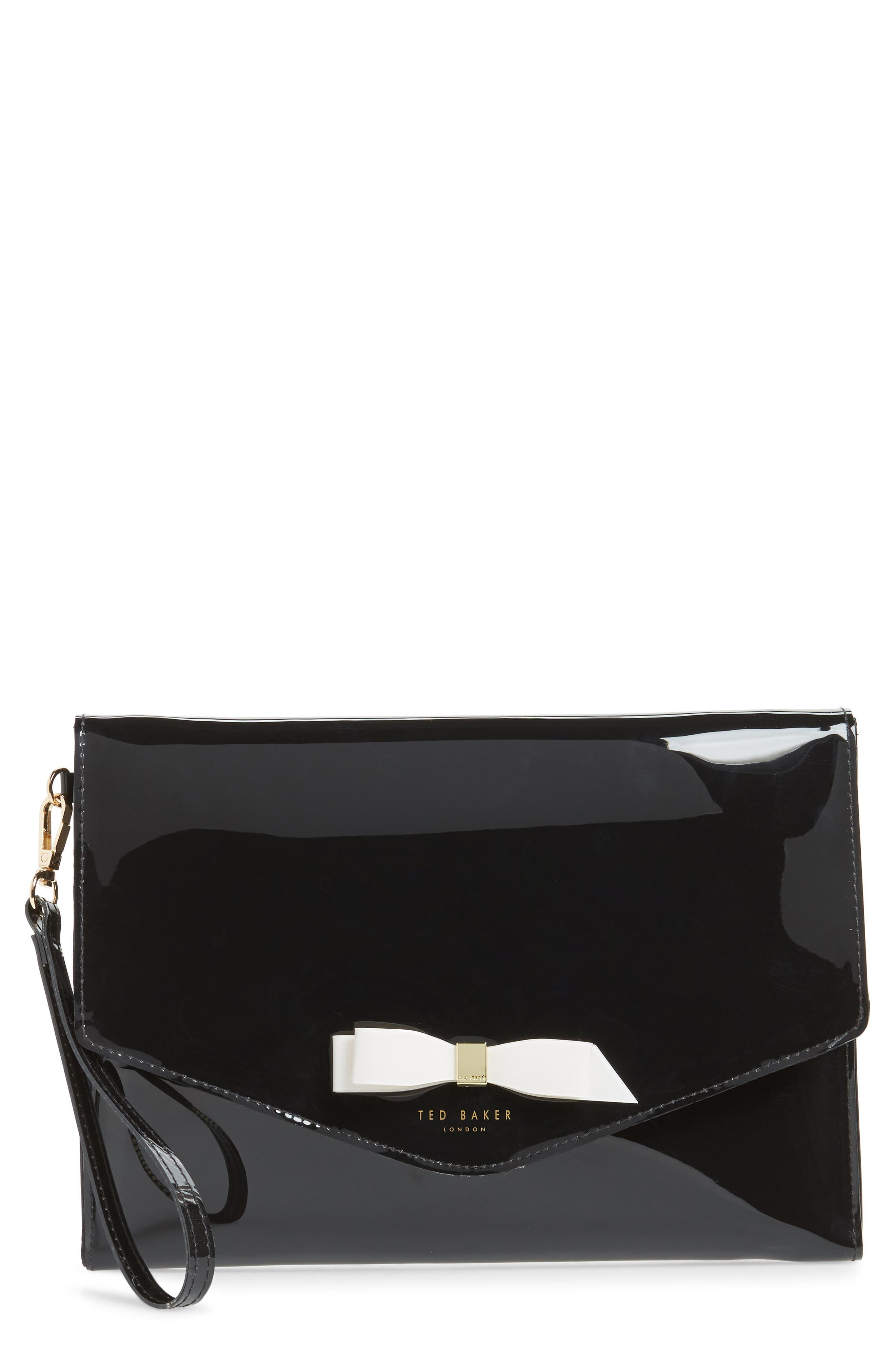 Cersei Envelope Clutch,                             Main thumbnail 1, color,                             BLACK