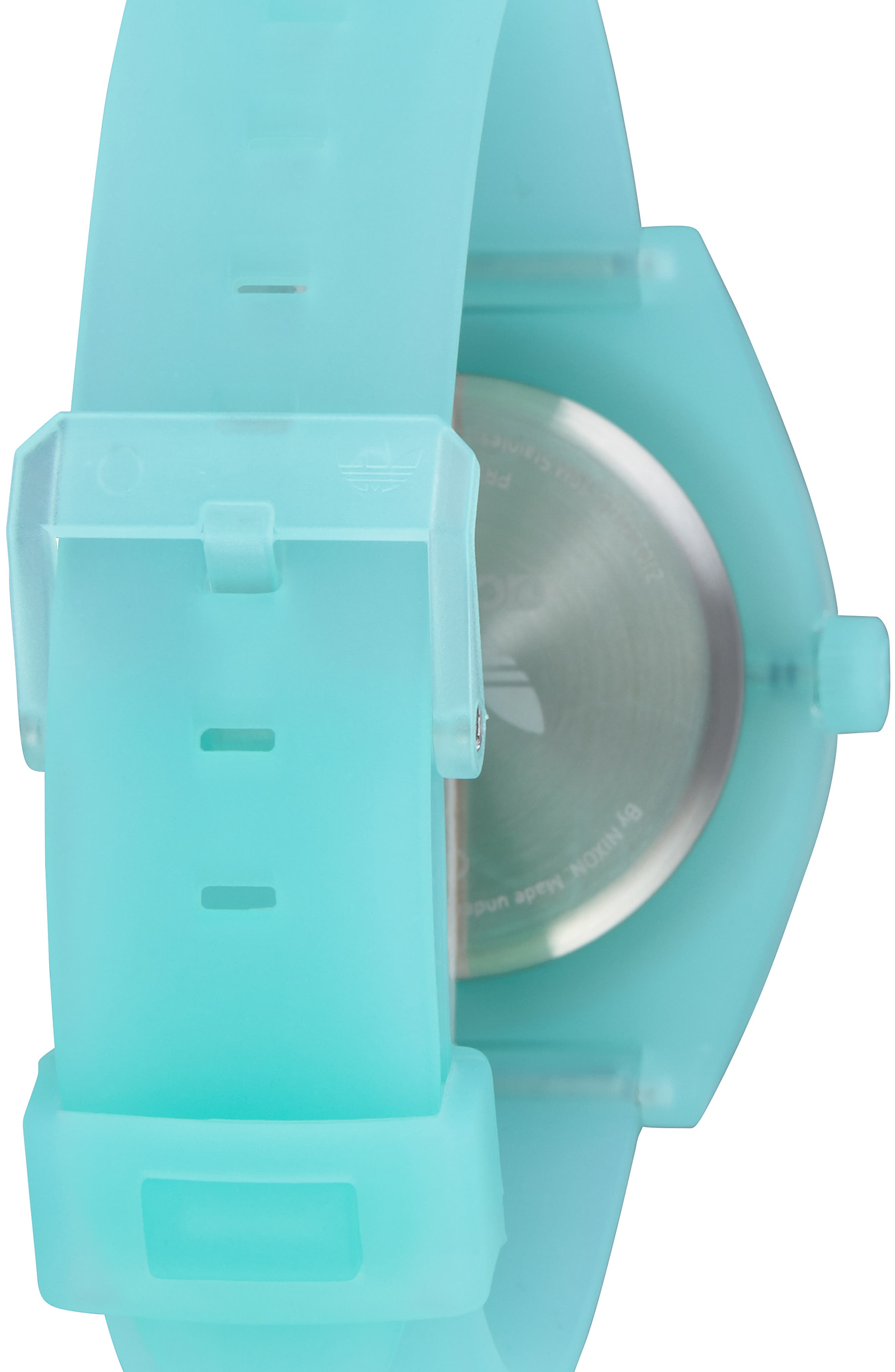 Process Silicone Strap Watch, 38mm,                             Alternate thumbnail 2, color,                             CLEAR MINT