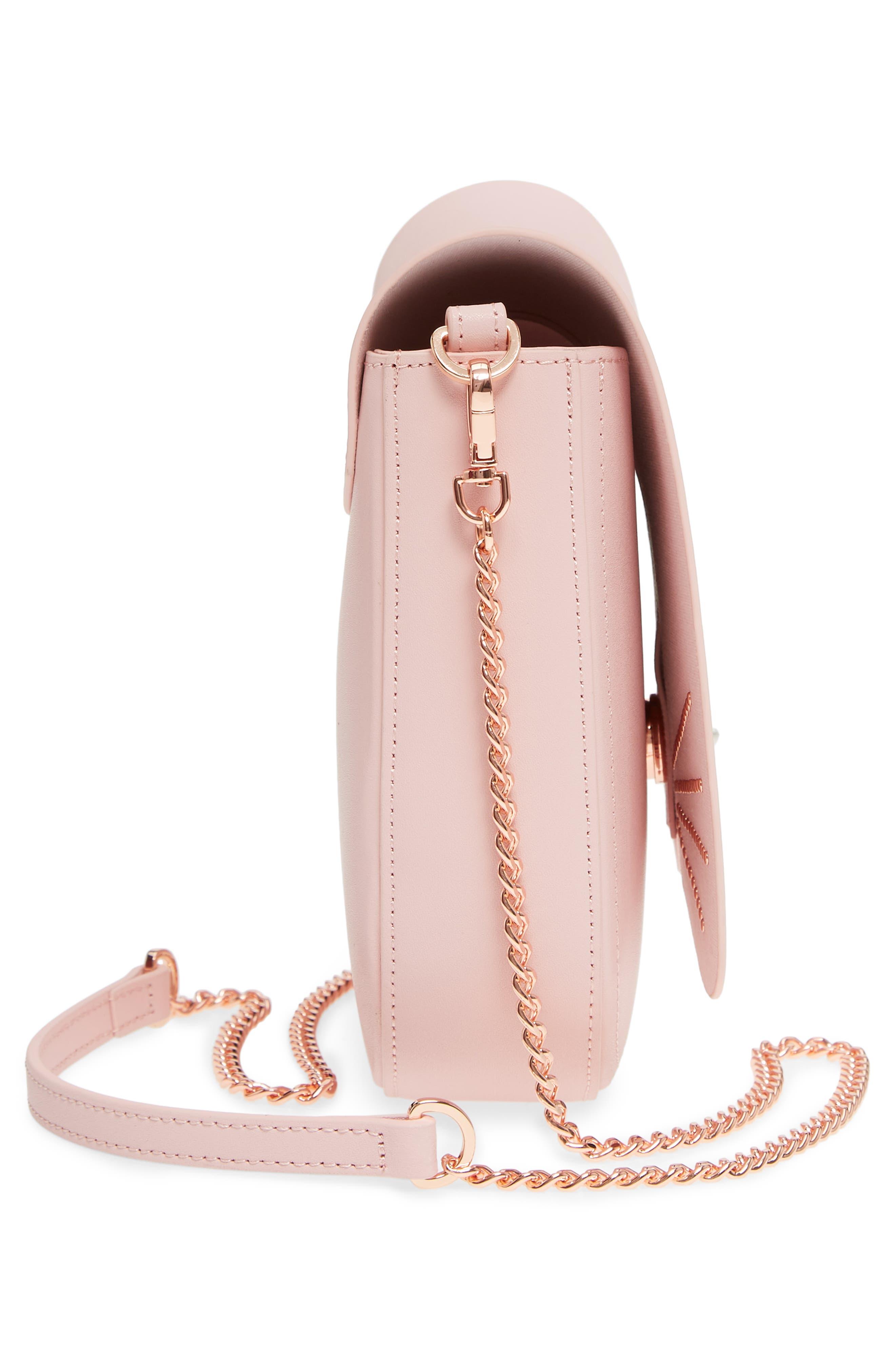 Chriiss Cat Stud Leather Crossbody Bag,                             Alternate thumbnail 14, color,