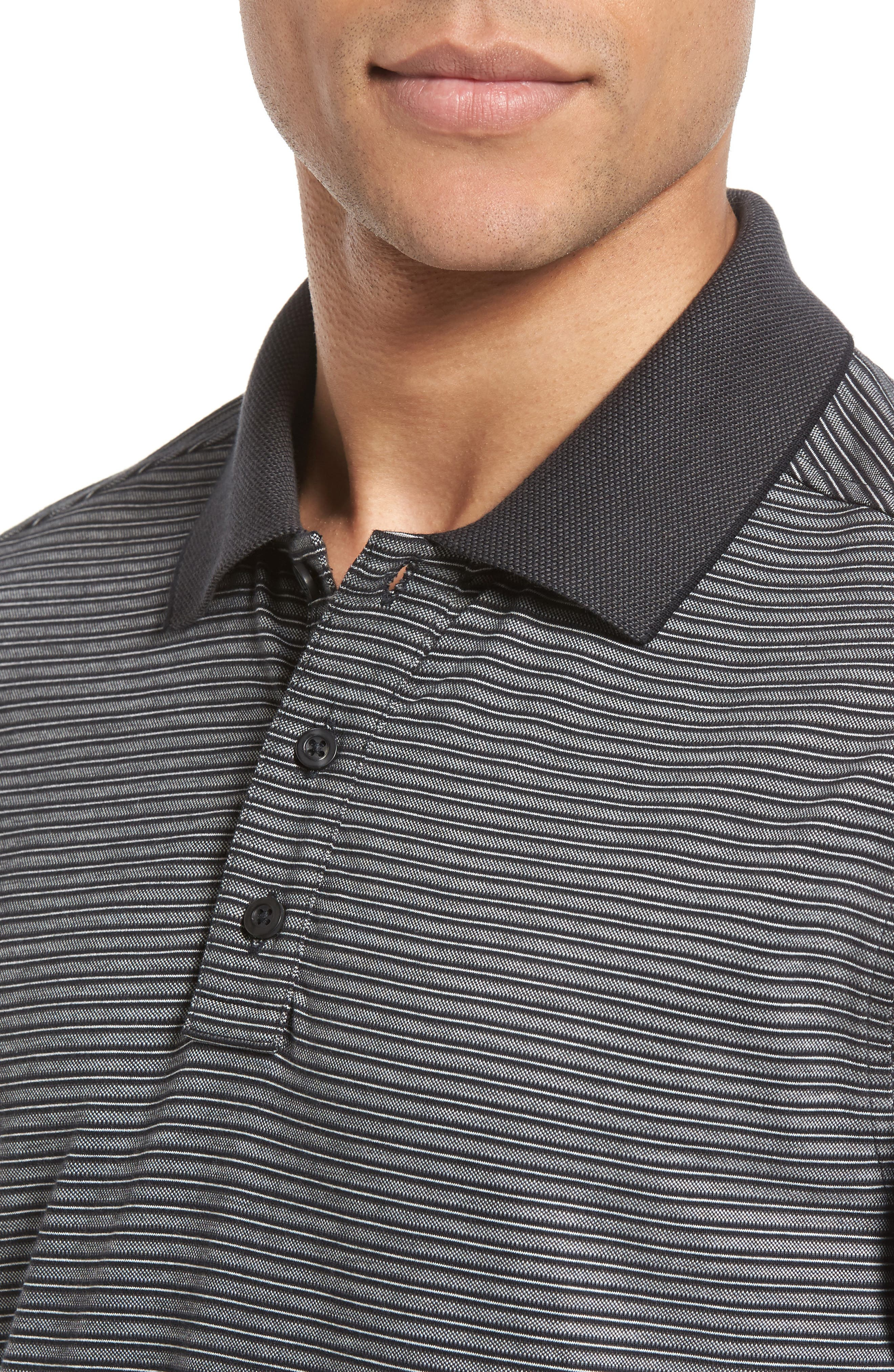 Regular Fit Performance Stripe Polo,                             Alternate thumbnail 4, color,                             030
