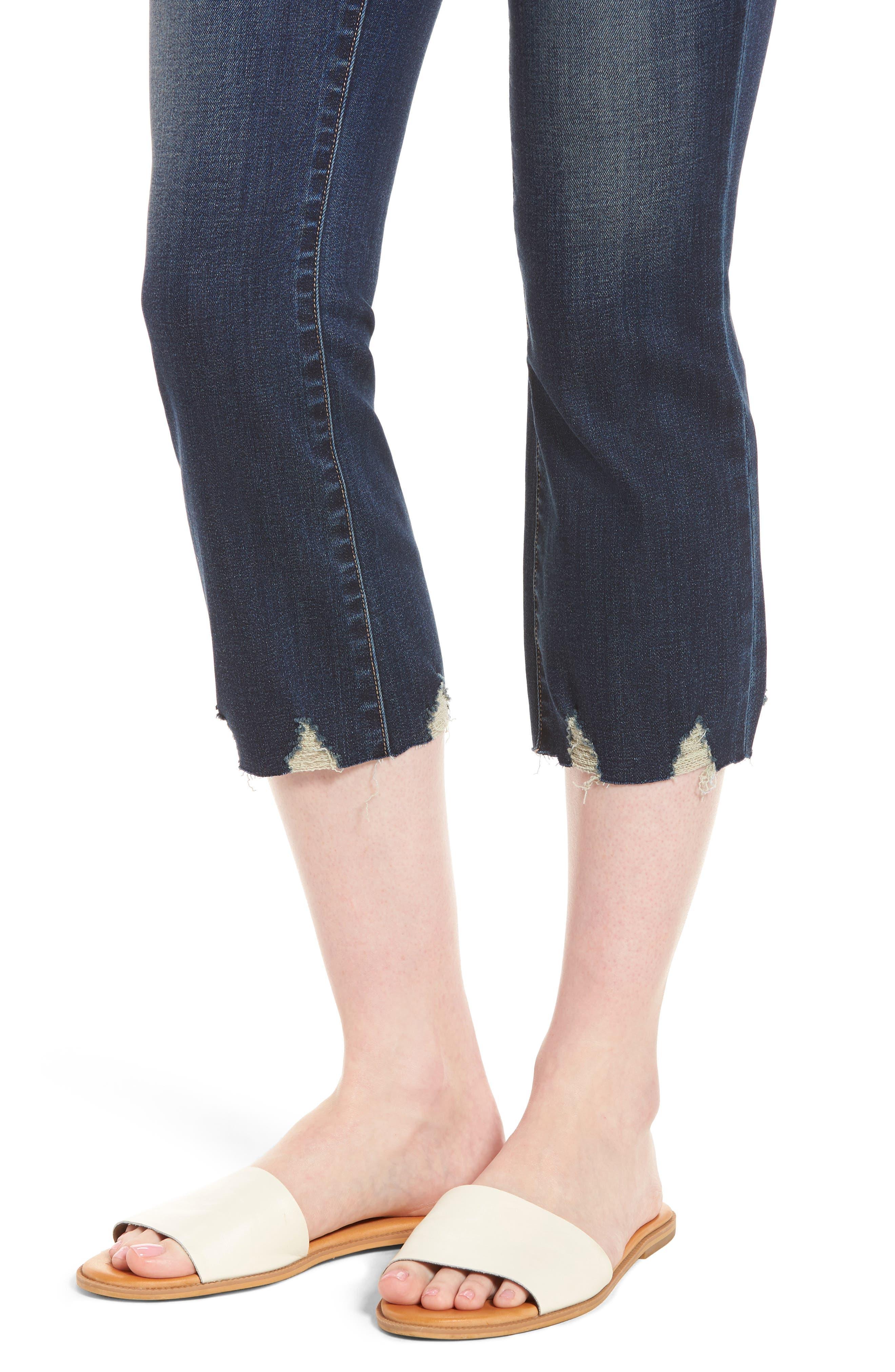 Palo Double Bite Crop Jeans,                             Alternate thumbnail 4, color,