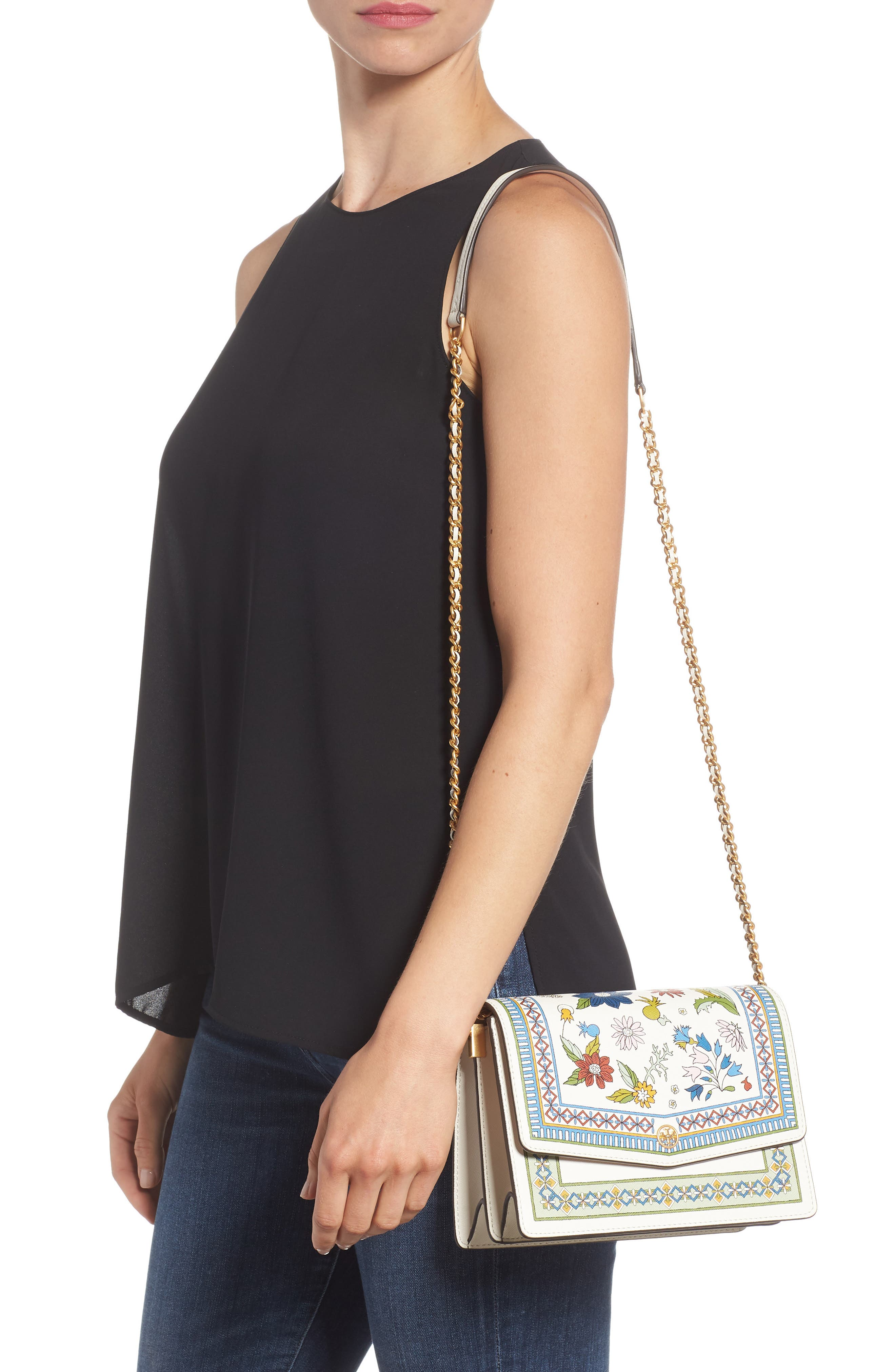 Robinson Floral Print Shoulder Bag,                             Alternate thumbnail 2, color,                             MEADOW SWEET / NEW IVORY