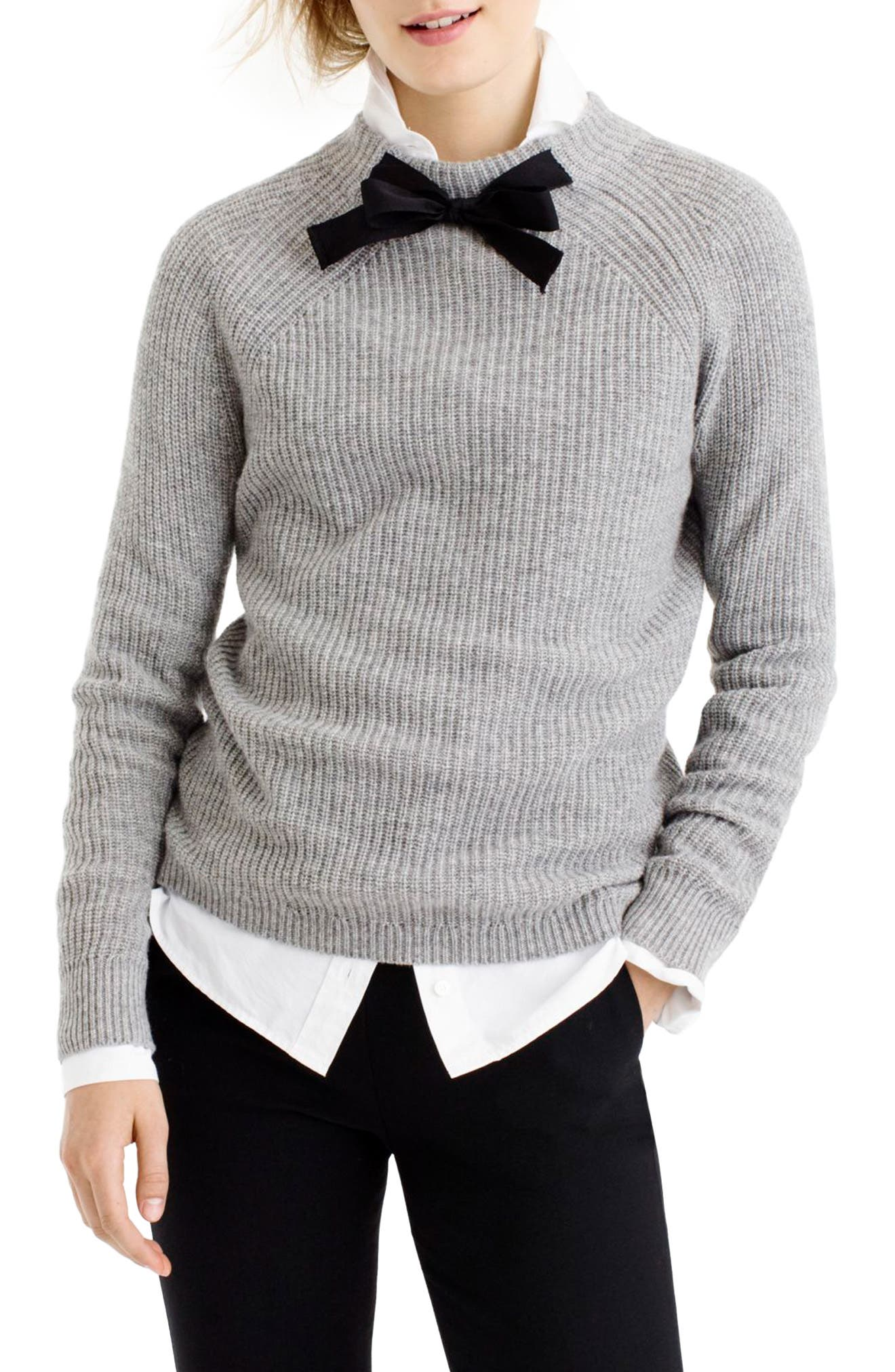 Gayle Tie Neck Sweater,                             Alternate thumbnail 6, color,