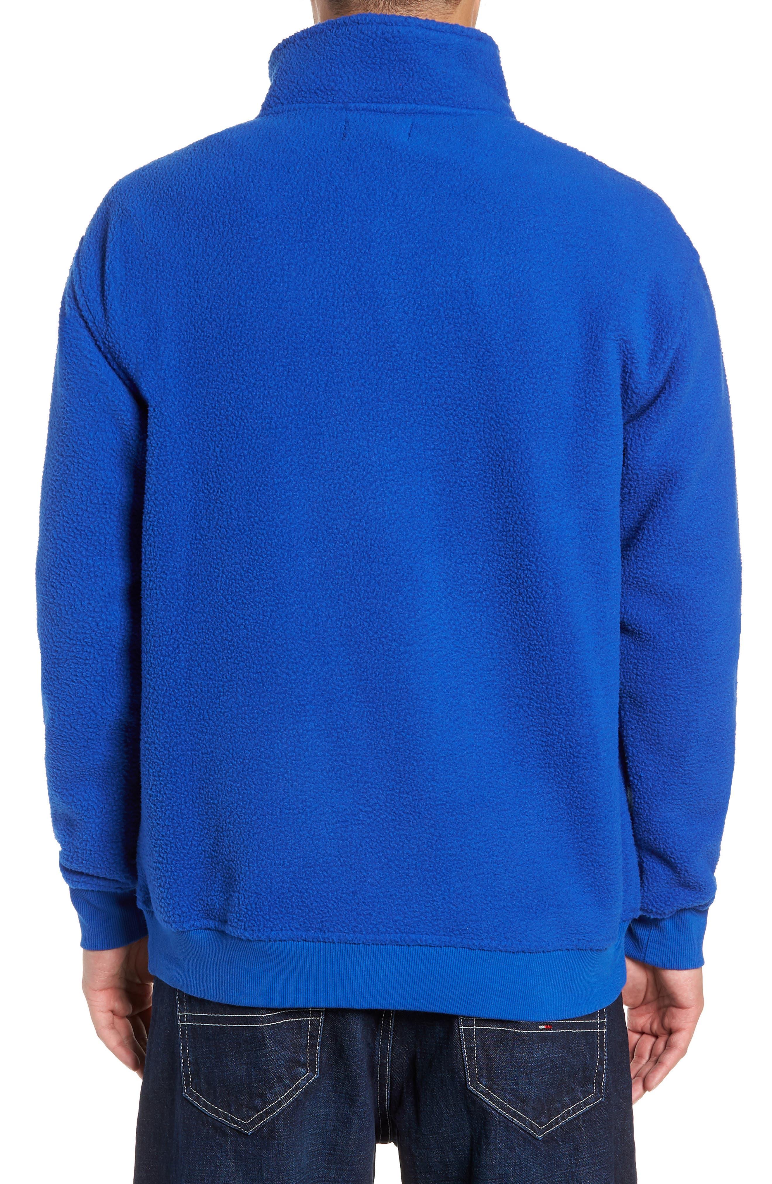TJM Classics Half Zip Fleece Pullover,                             Alternate thumbnail 2, color,                             SURF THE WEB