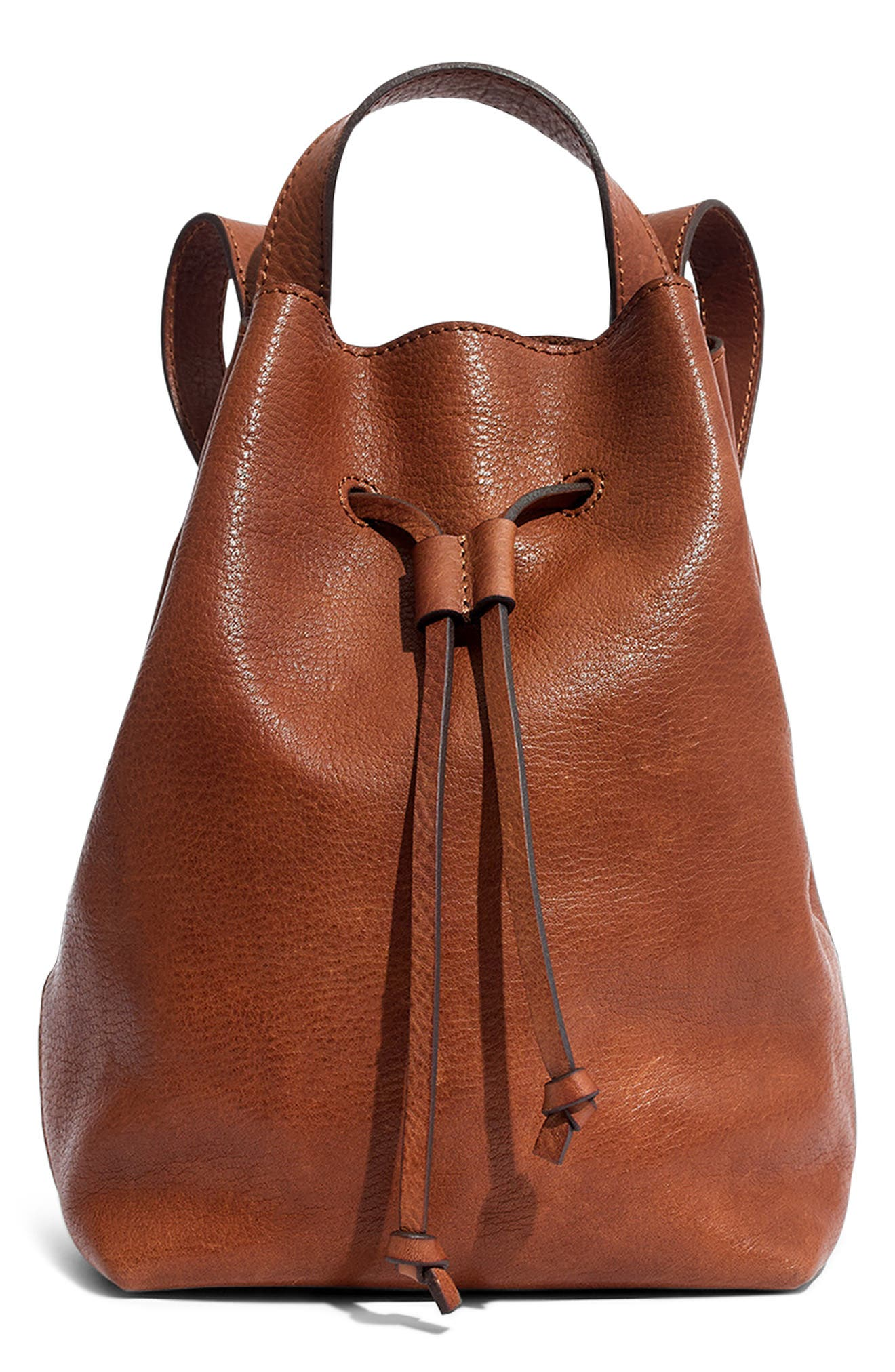 Mini Somerset Leather Backpack, Main, color, 200