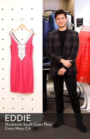 Embroidered V-Neck Shift Dress, sales video thumbnail