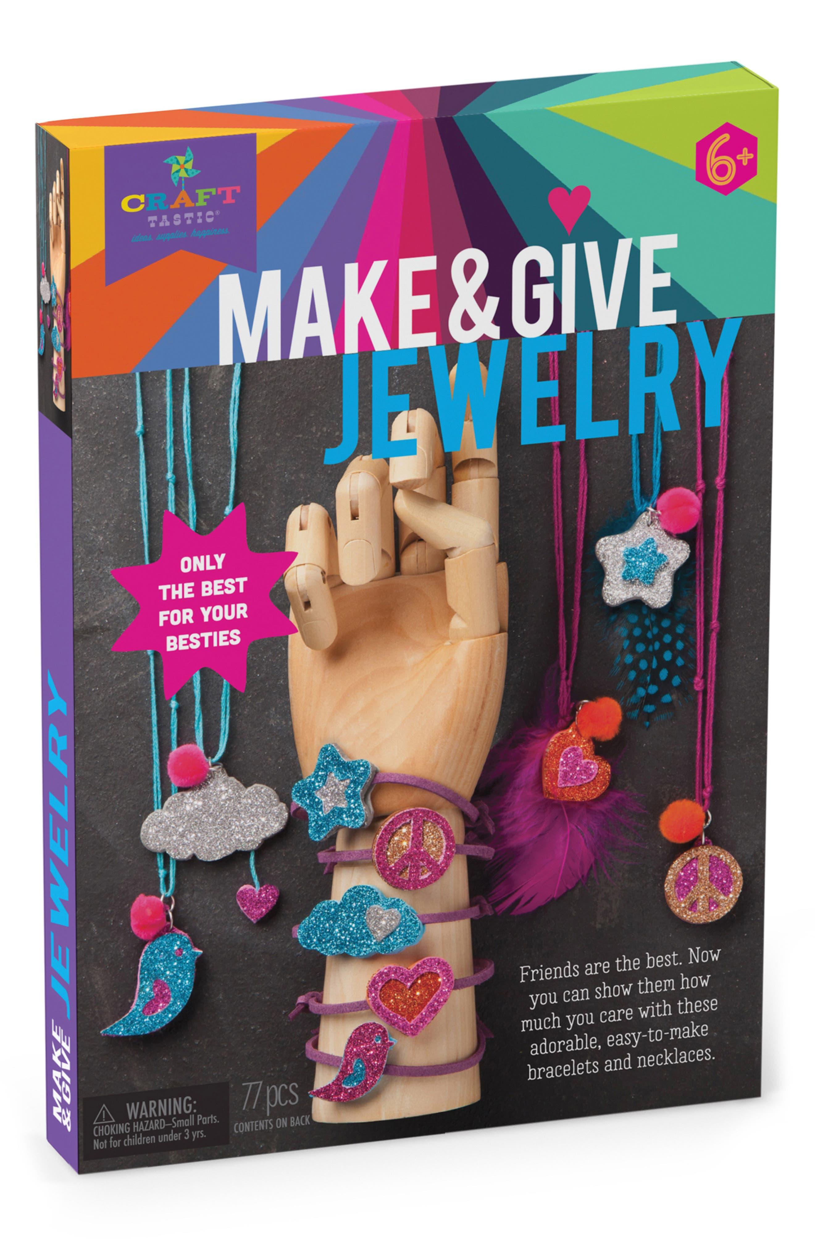 Girls CraftTastic Make  Give Glitter Jewelry Kit