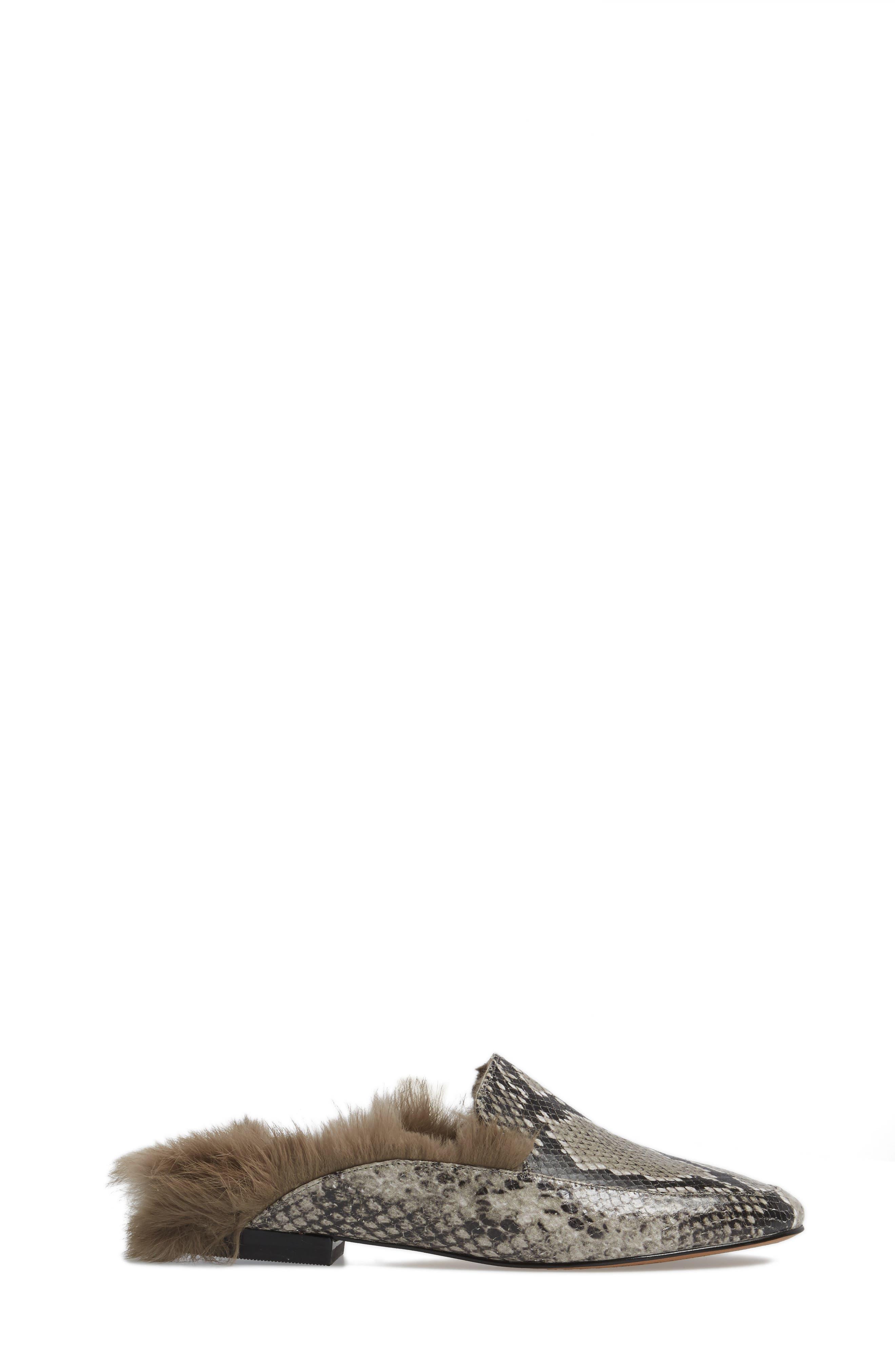 Asha Genuine Rabbit Fur Mule,                             Alternate thumbnail 6, color,
