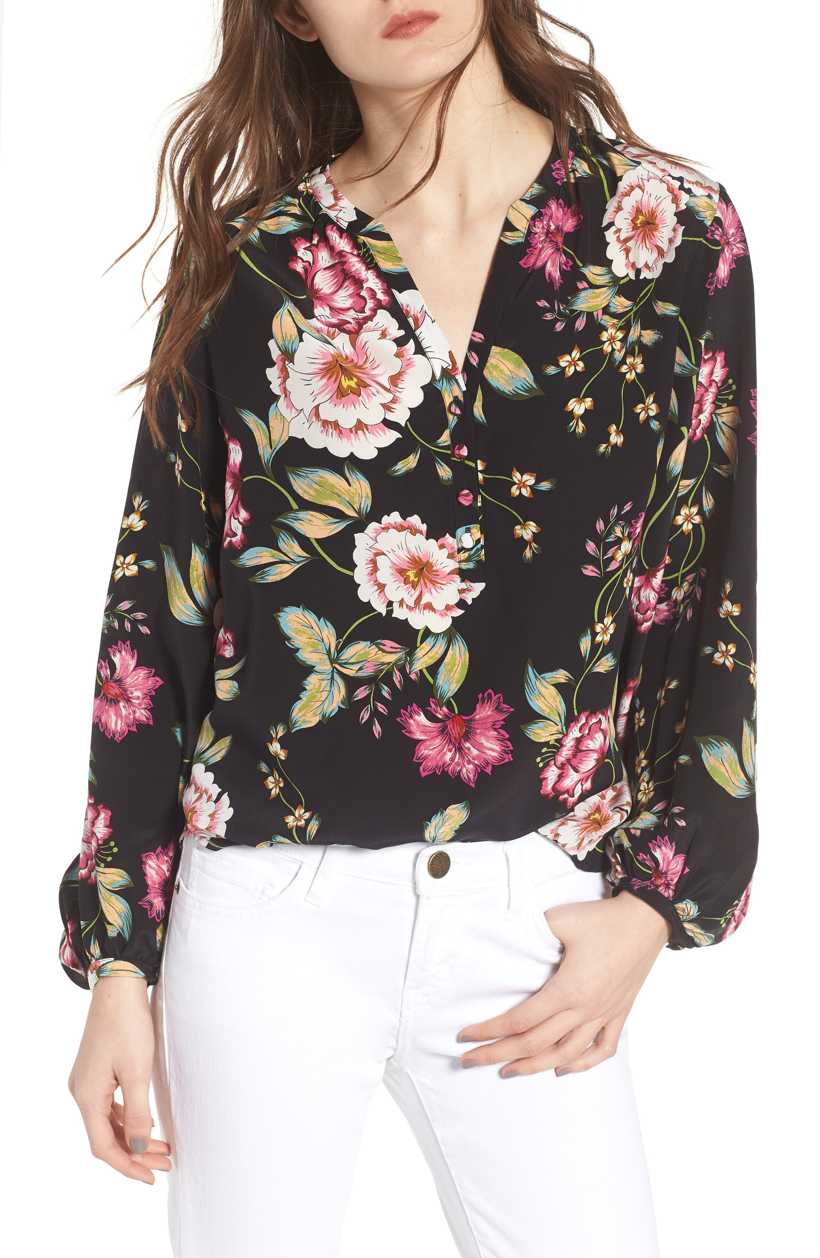 Love Song Silk Blouse,                         Main,                         color, 001