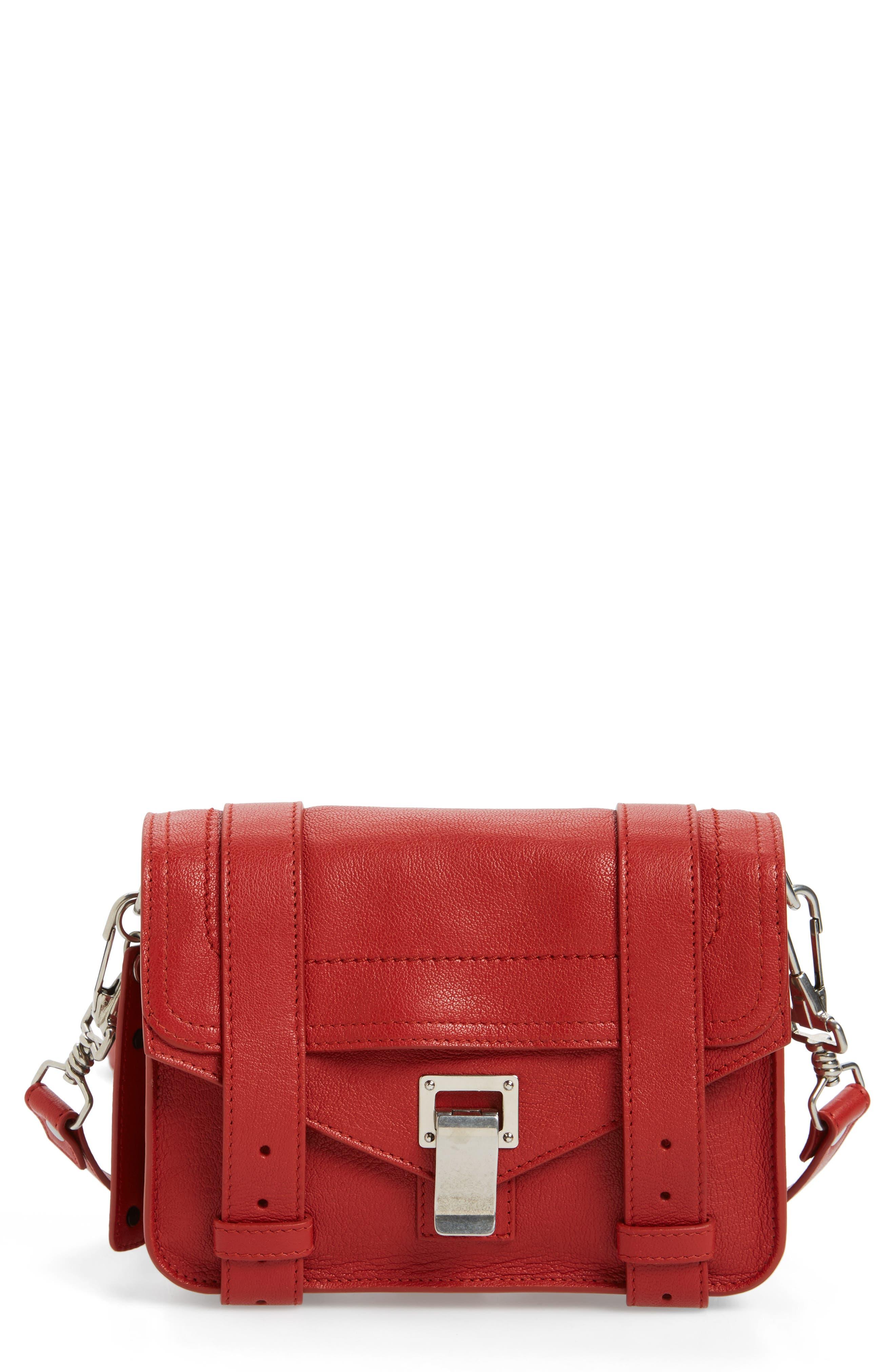 'Mini PS1' Lambskin Leather Crossbody Bag,                             Main thumbnail 4, color,