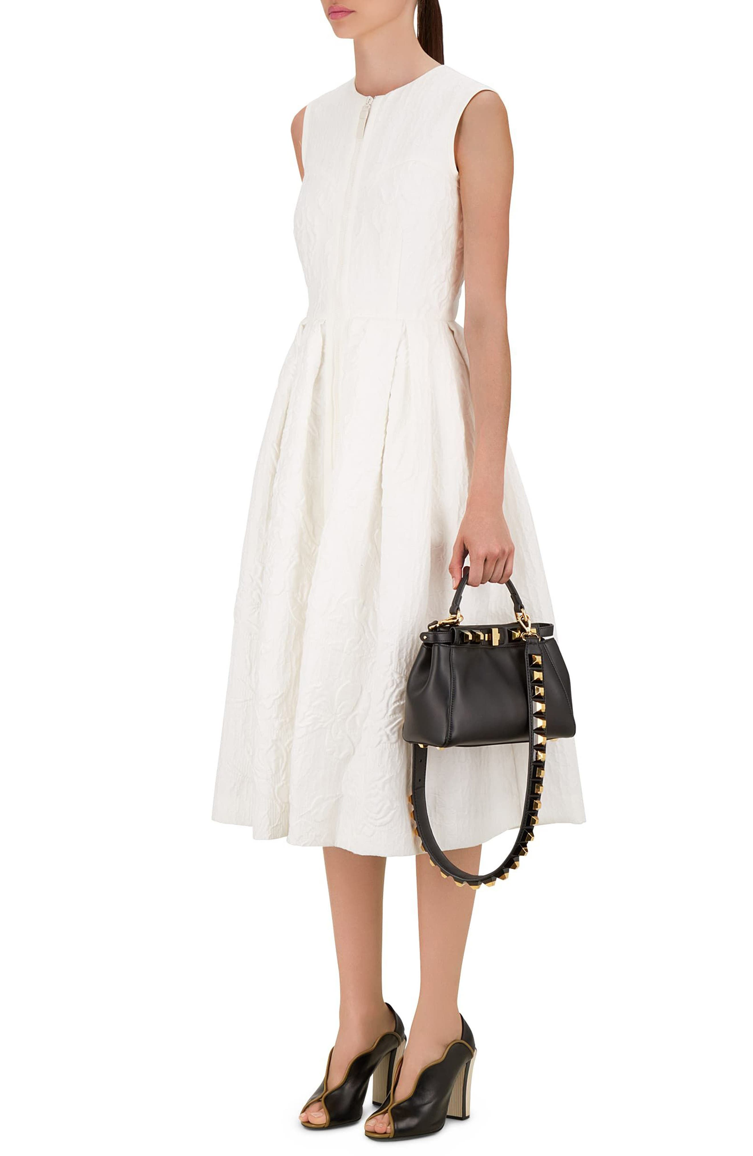 Mini Peekaboo Studded Leather Bag,                             Alternate thumbnail 2, color,                             006