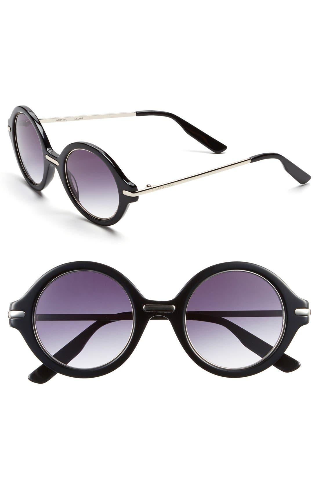 Jason Wu 'Laurie' 46mm Sunglasses,                             Main thumbnail 1, color,                             001