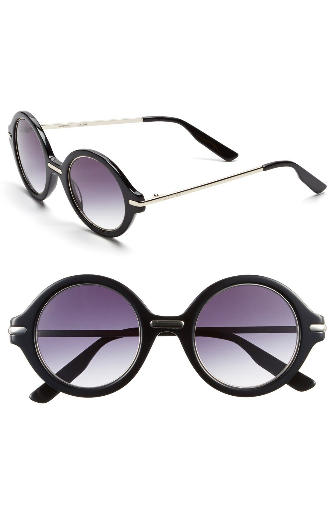 Jason Wu 'Laurie' 46mm Sunglasses, Main, color, 001